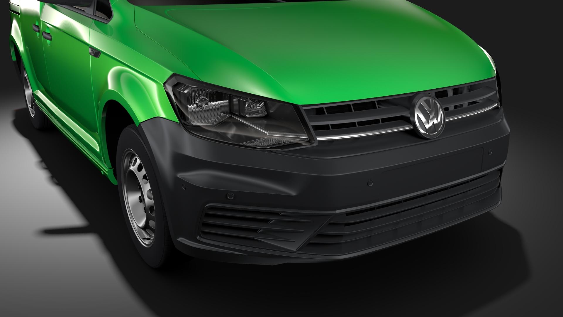volkswagen caddy panel van l1 2017 3d model max fbx c4d lwo ma mb hrc xsi obj 274401