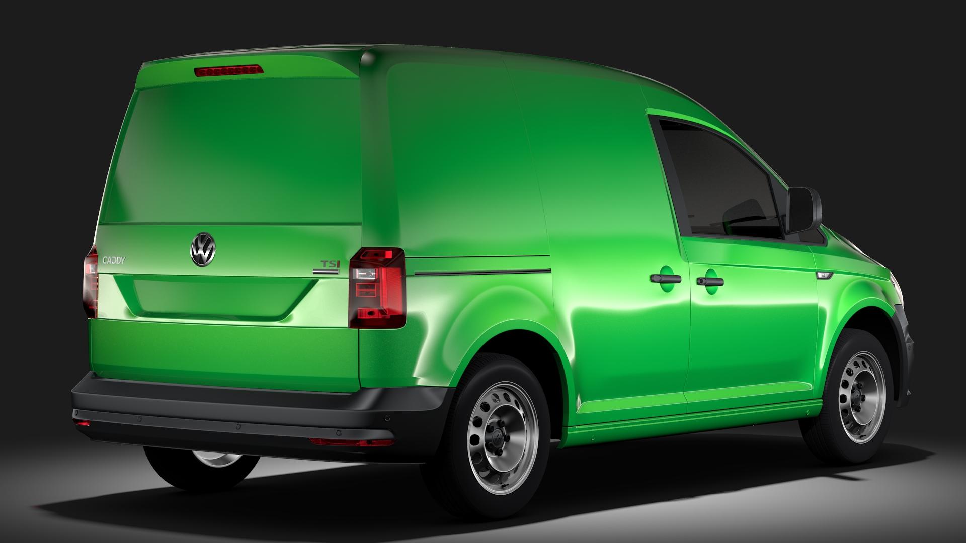 volkswagen caddy panel van l1 2017 3d model max fbx c4d lwo ma mb hrc xsi obj 274403