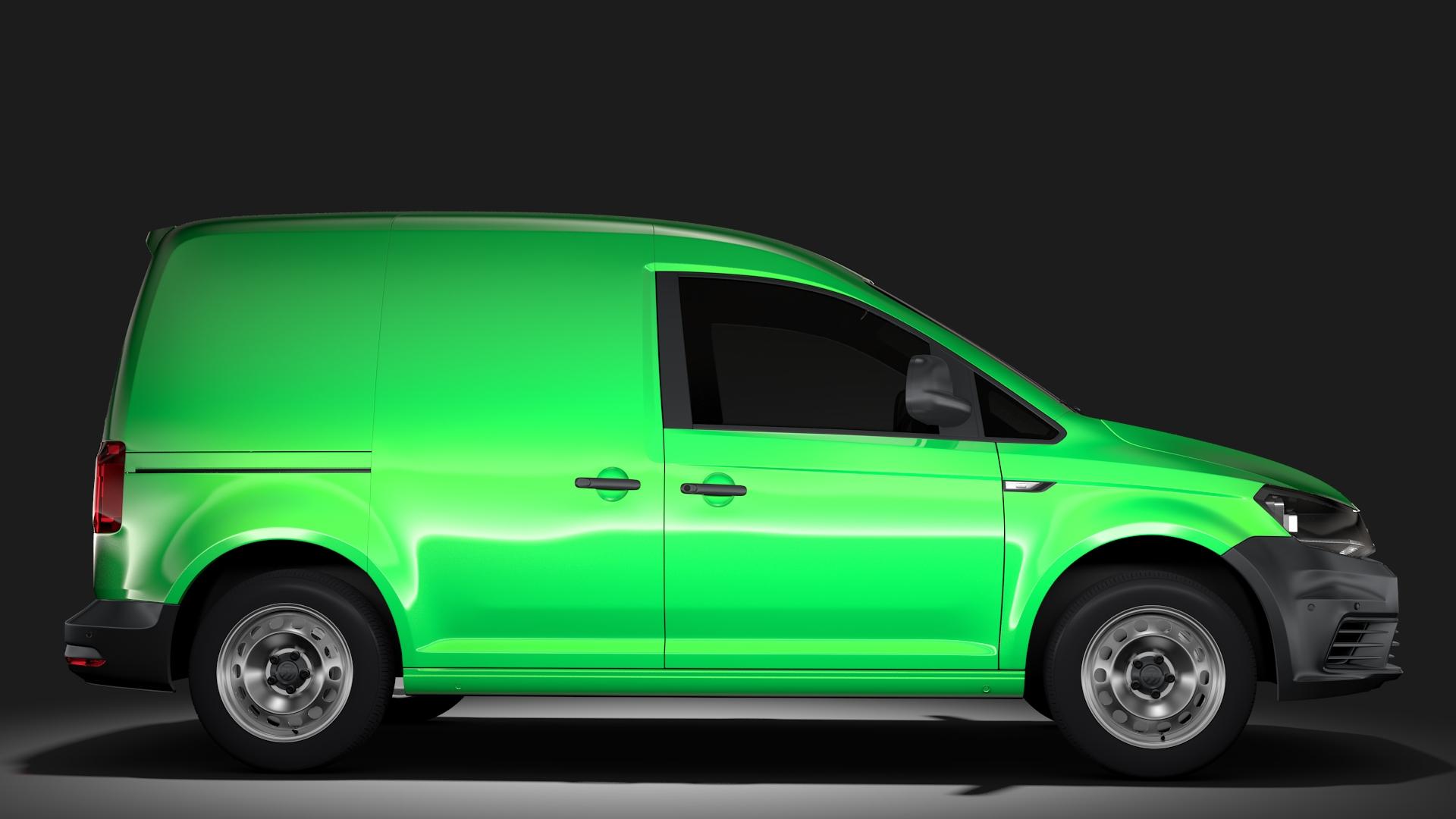 volkswagen caddy panel van l1 2017 3d model max fbx c4d lwo ma mb hrc xsi obj 274405