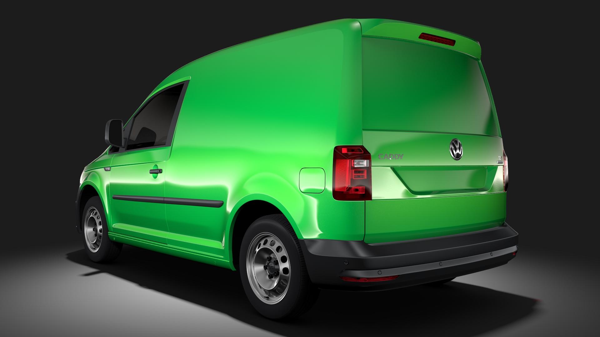 volkswagen caddy panel van l1 2017 3d model max fbx c4d lwo ma mb hrc xsi obj 274406