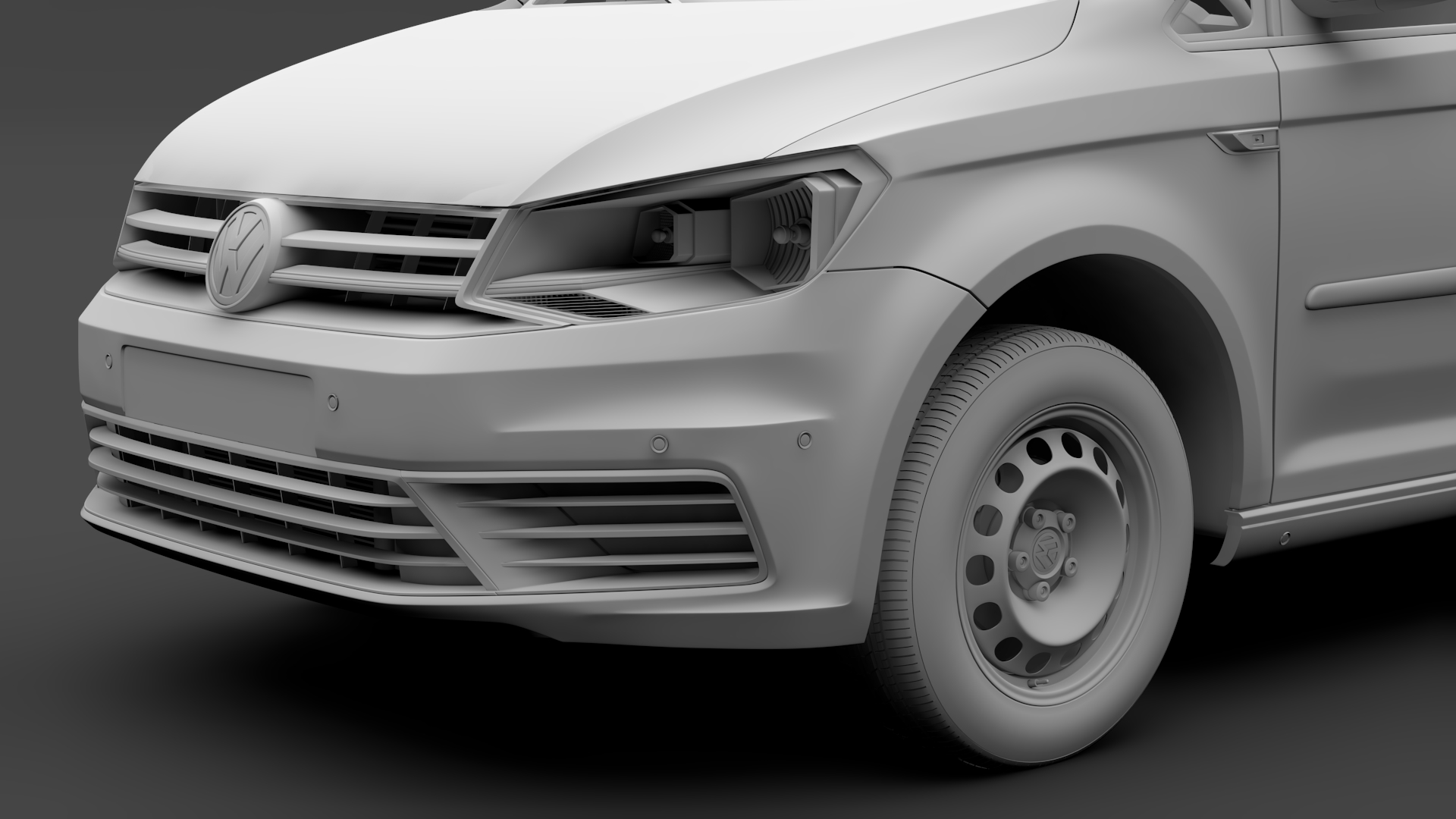 volkswagen caddy panel van l1 2017 3d model max fbx c4d lwo ma mb hrc xsi obj 274408