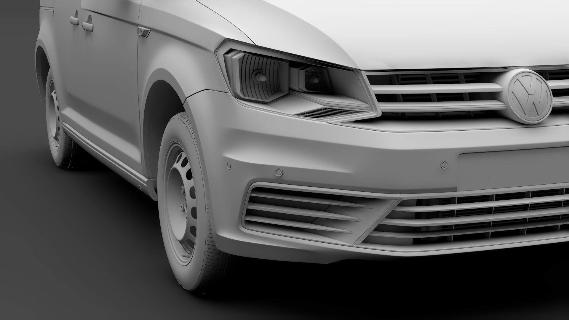 volkswagen caddy panel van l1 2017 3d model max fbx c4d lwo ma mb hrc xsi obj 274409