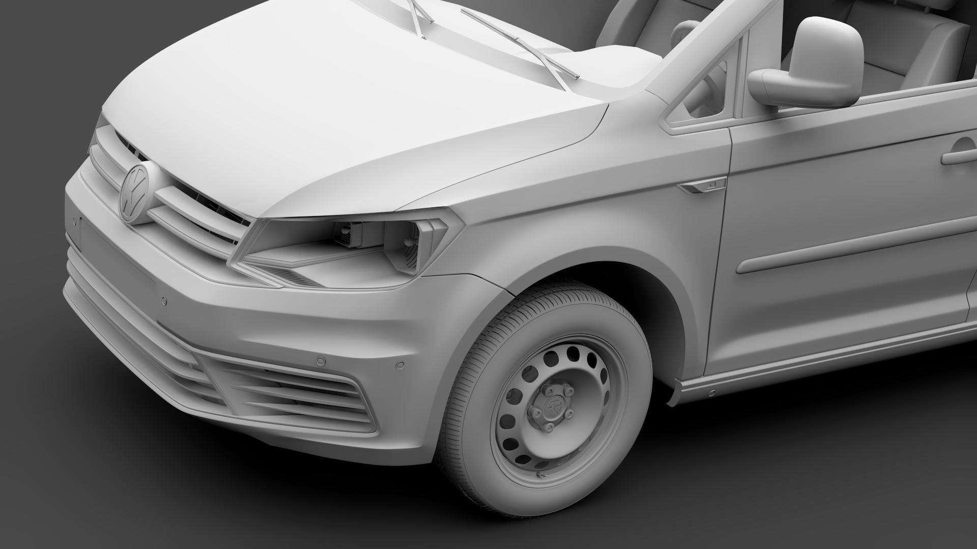 volkswagen caddy panel van l1 2017 3d model max fbx c4d lwo ma mb hrc xsi obj 274410