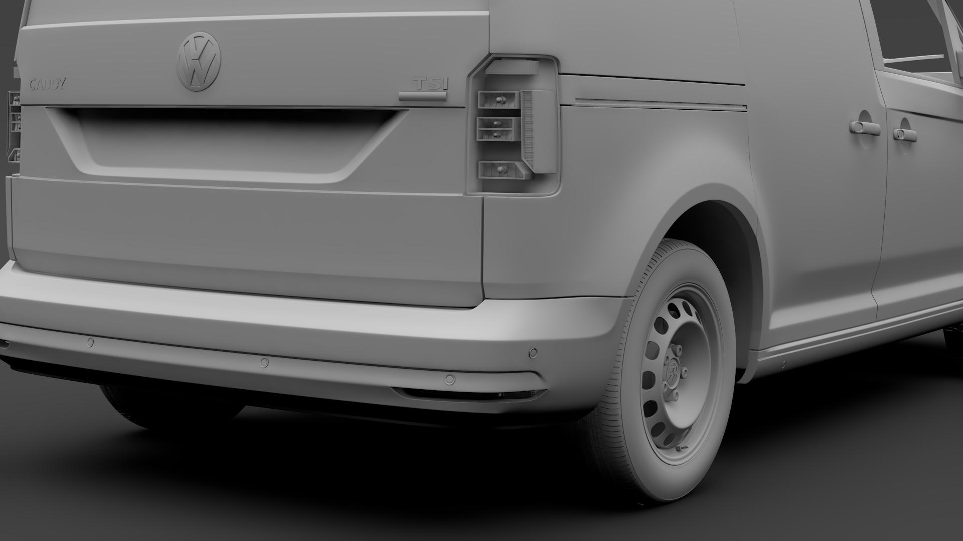 volkswagen caddy panel van l1 2017 3d model max fbx c4d lwo ma mb hrc xsi obj 274412