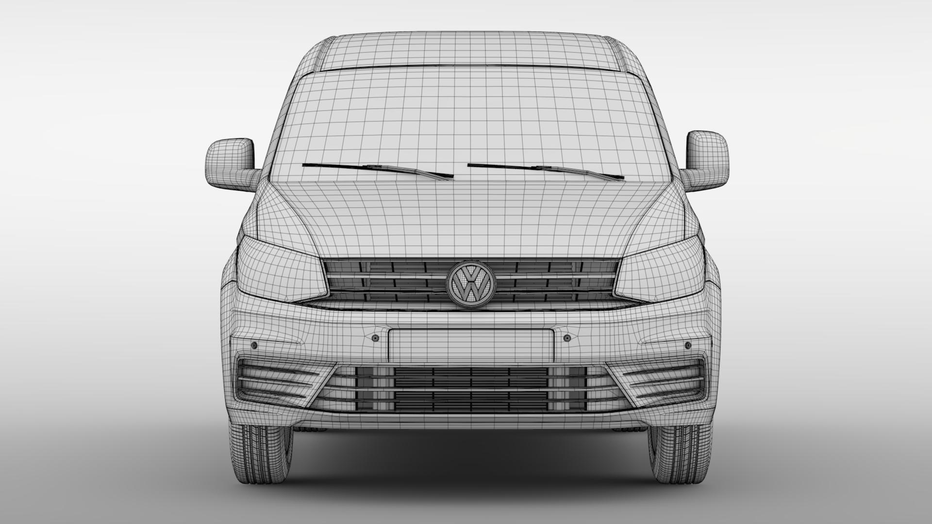 volkswagen caddy panel van l1 2017 3d model max fbx c4d lwo ma mb hrc xsi obj 274413