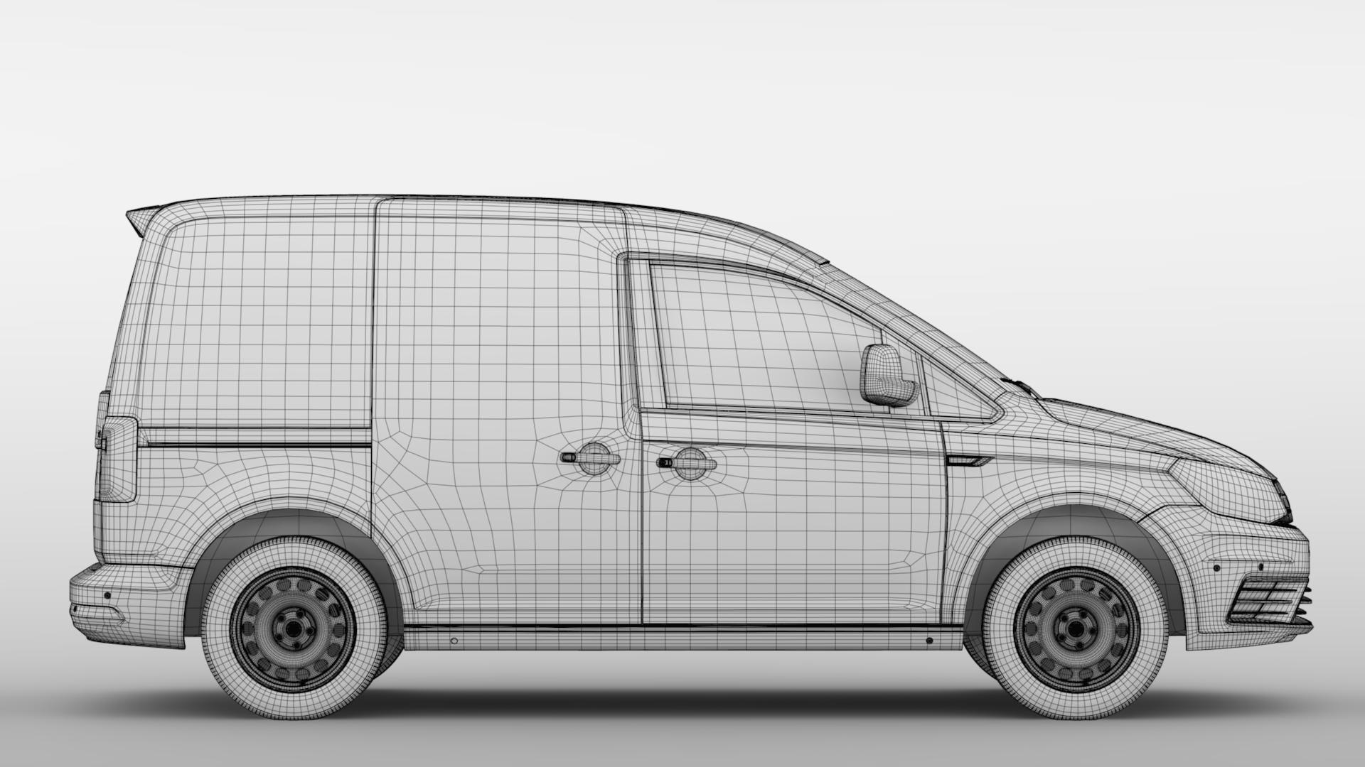 volkswagen caddy panel van l1 2017 3d model max fbx c4d lwo ma mb hrc xsi obj 274414