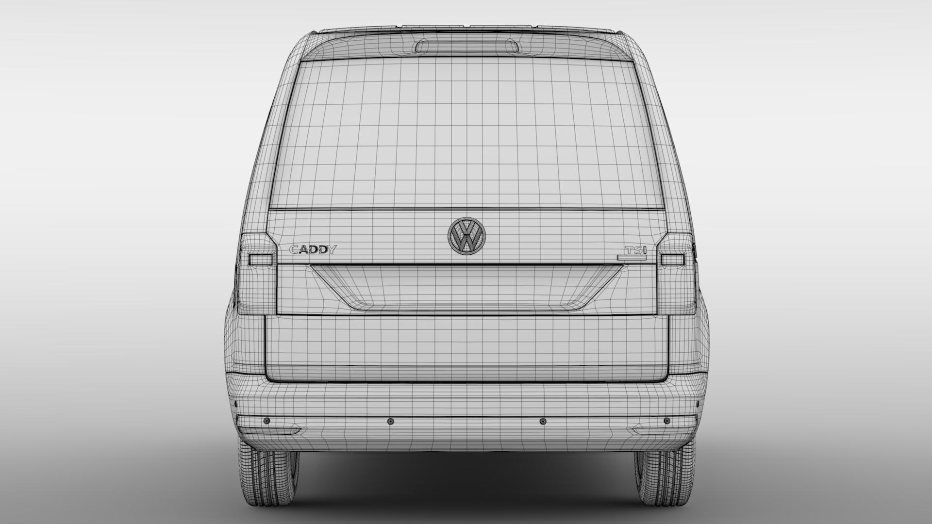 volkswagen caddy panel van l1 2017 3d model max fbx c4d lwo ma mb hrc xsi obj 274415