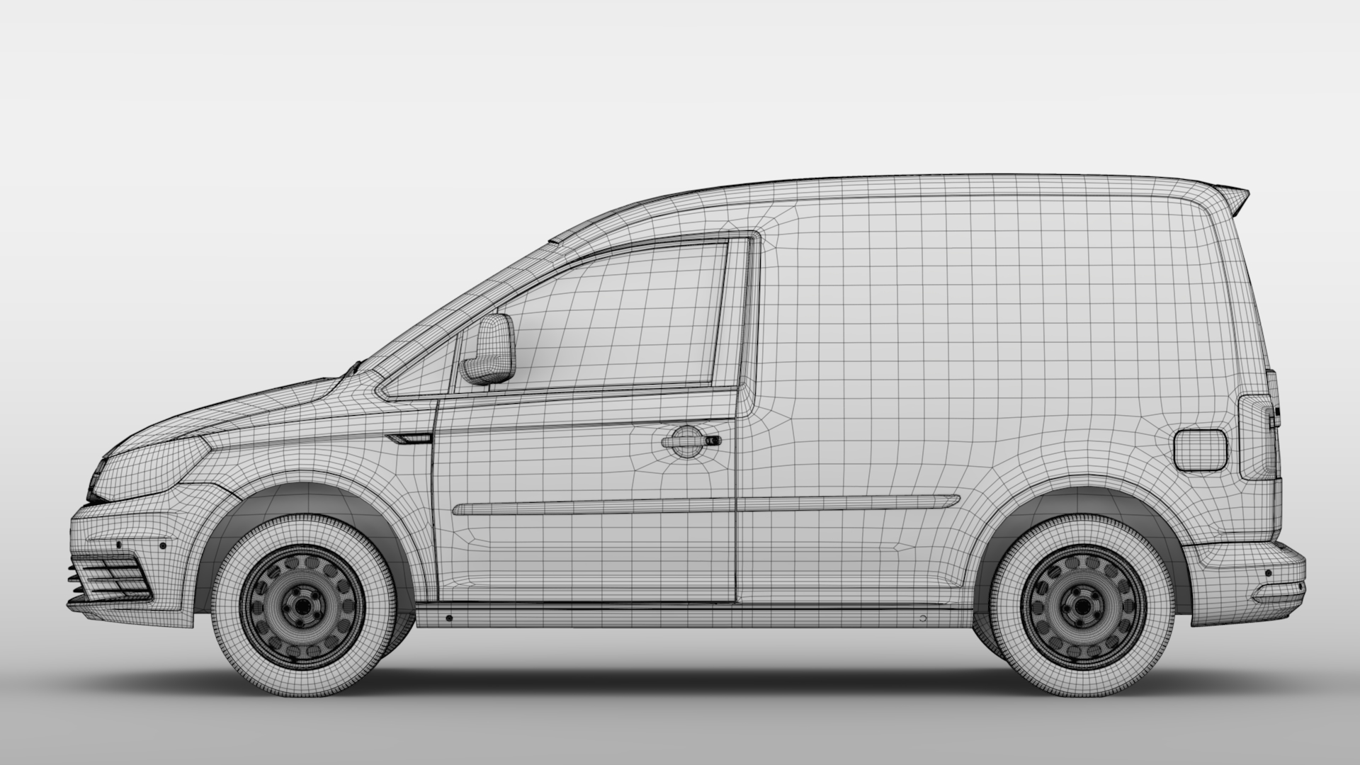 volkswagen caddy panel van l1 2017 3d model max fbx c4d lwo ma mb hrc xsi obj 274416