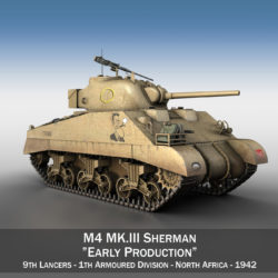 M4 Sherman MK III - Early Production 3d model high poly virtual reality 3ds fbx c4d lwo lws lw obj