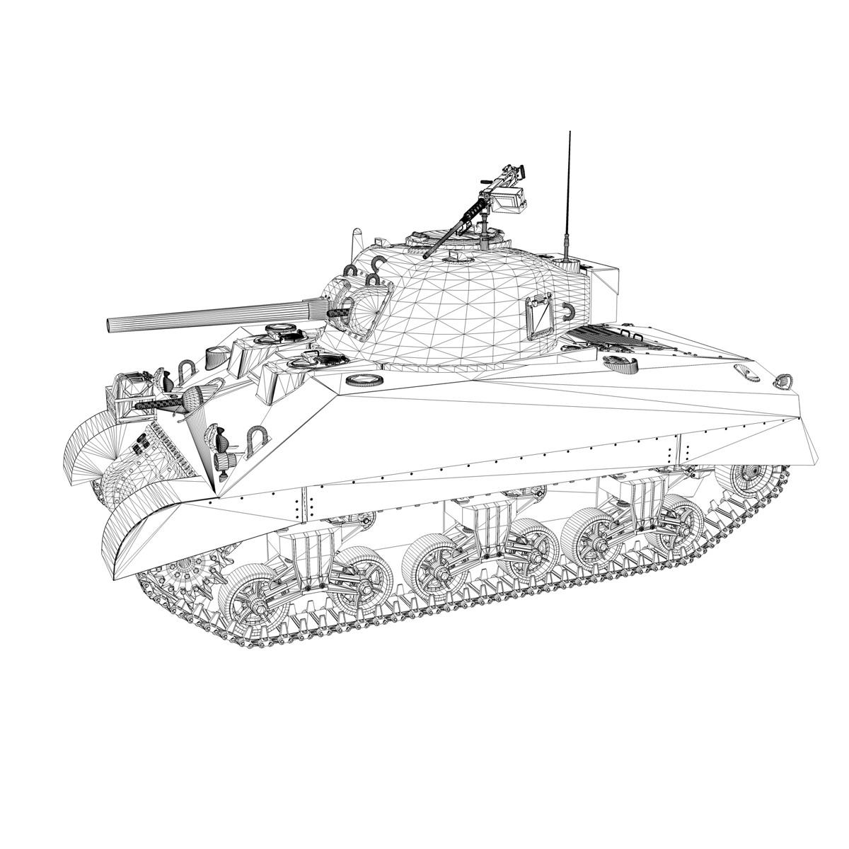 m4 sherman mk iii - agrīna ražošana 3d modelis 3ds fbx c4d lwo obj 274470