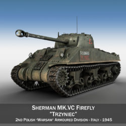 Sherman MK VC Firefly - Tryniec 3d model high poly virtual reality 3ds fbx c4d lwo lws lw obj