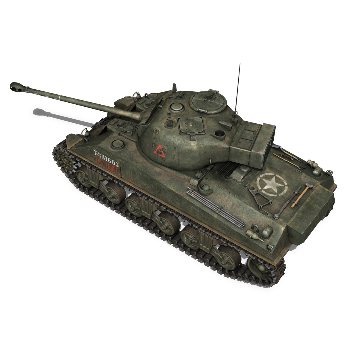 sherman mk vc firefly - mēģinājums 3d modelis 3ds fbx c4d lwo obj 274482