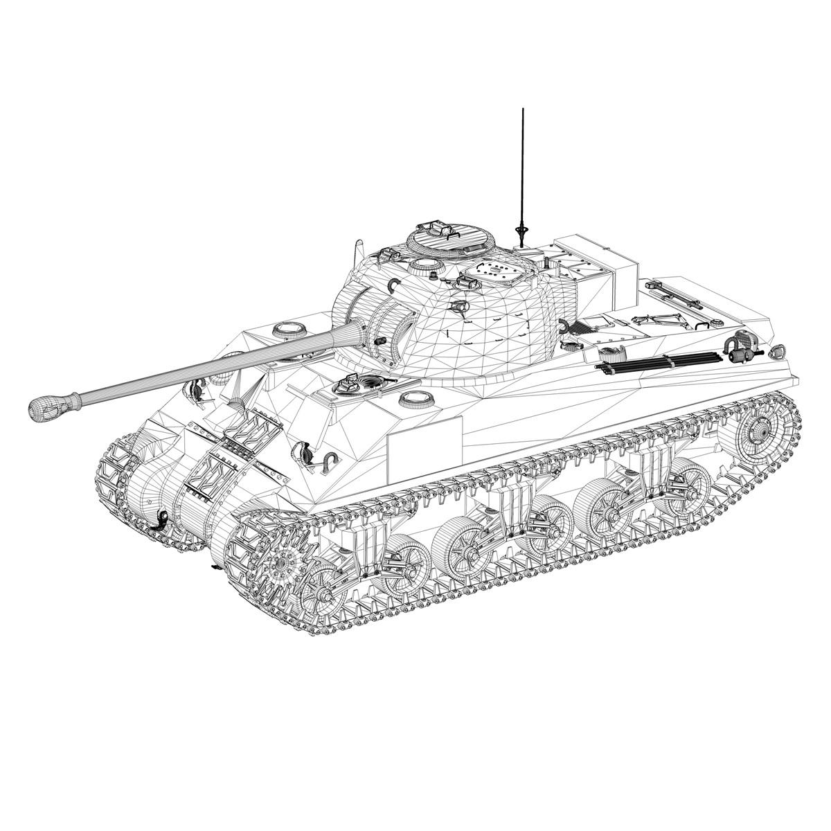 sherman mk vc firefly - mēģinājums 3d modelis 3ds fbx c4d lwo obj 274491