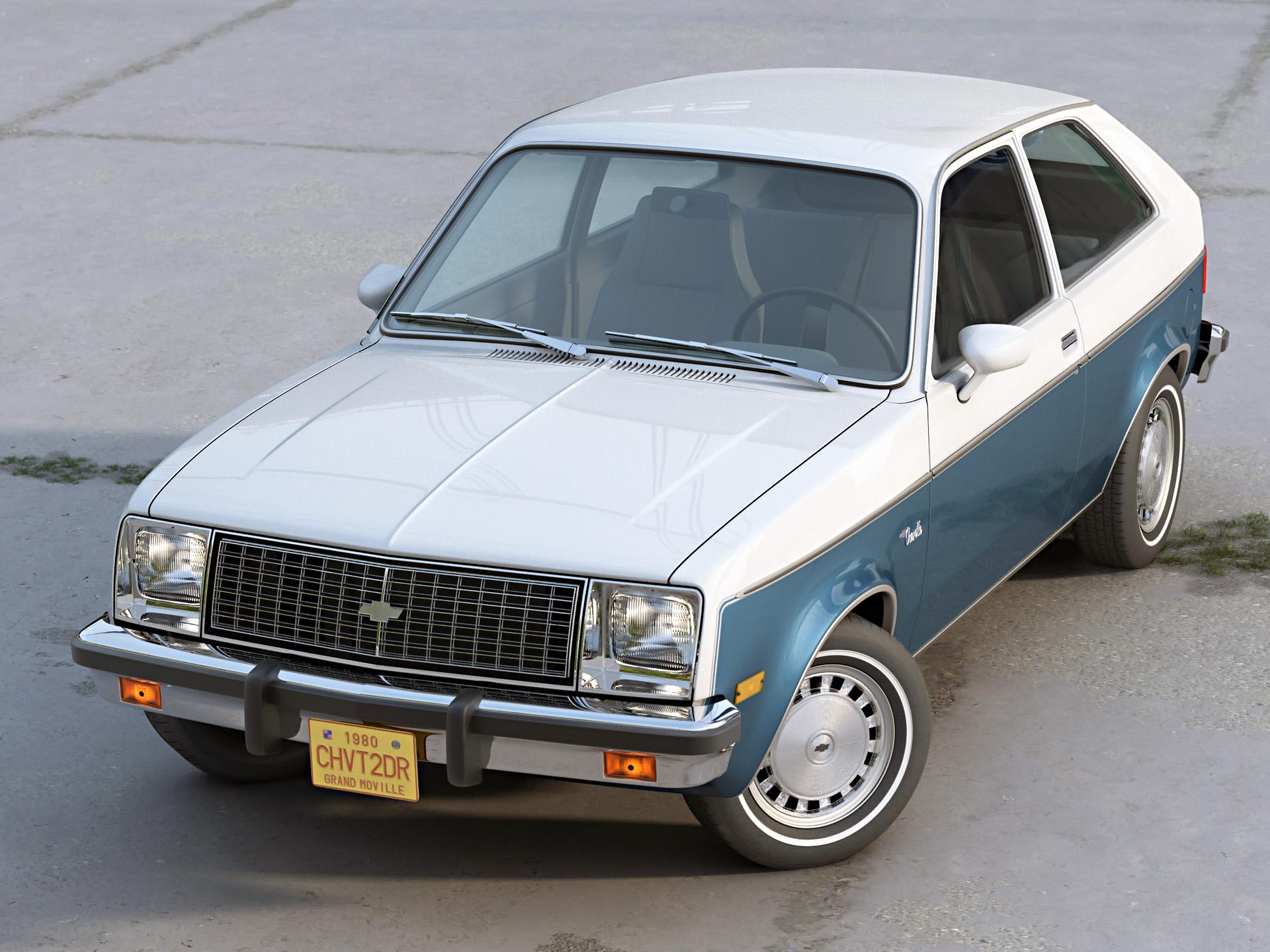 Chevy Chevette 2 Door 1980 3d model 3ds max fbx c4d dae obj 274499
