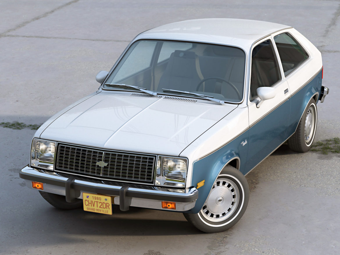 chevette 2 door 1980 3d model 3ds max fbx c4d dae obj 274499