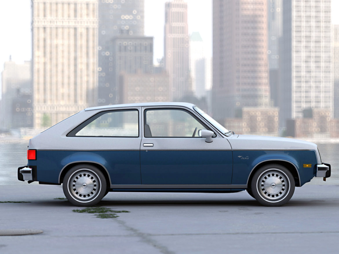 chevette 2 door 1980 3d model 3ds max fbx c4d dae obj 274502