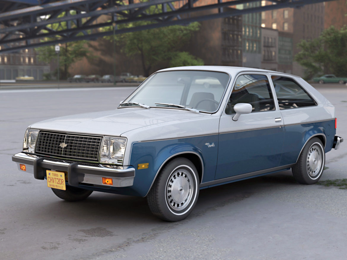 chevette 2 door 1980 3d model 3ds max fbx c4d dae obj 274504