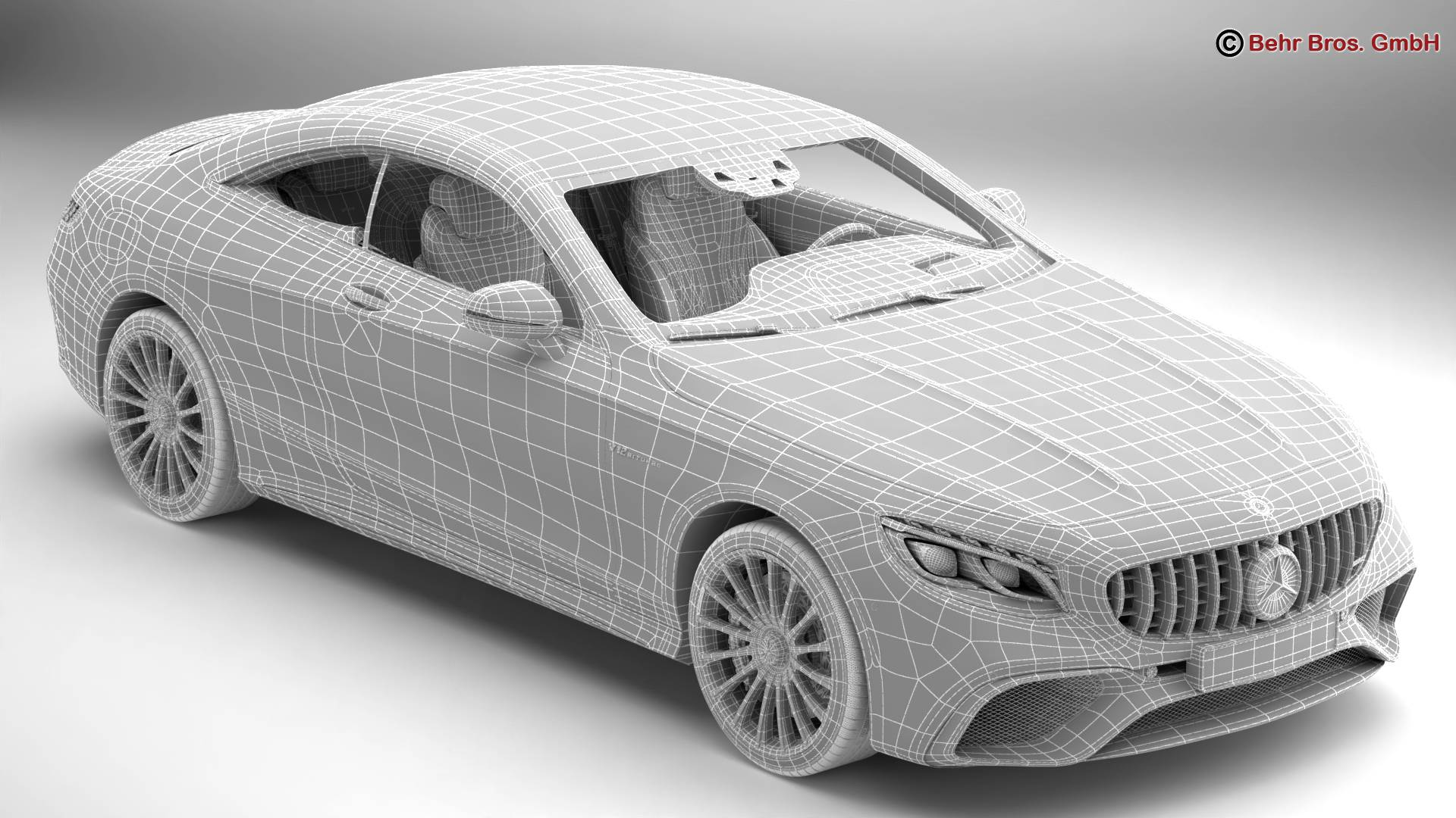 mercedes s class coupe amg s65 2018 3d model 3ds max fbx c4d lwo ma mb obj 274557