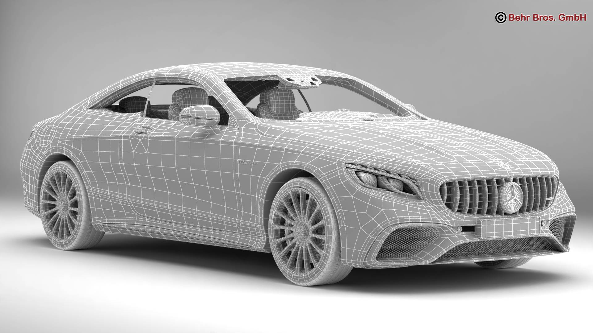 mercedes s class coupe amg s65 2018 3d model 3ds max fbx c4d lwo ma mb obj 274558