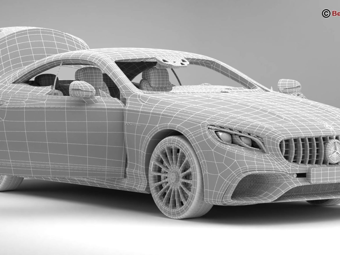 Mercedes S Class Coupe AMG S65 2018 3d model high poly 3ds max fbx c4d lwo lws lw ma mb obj