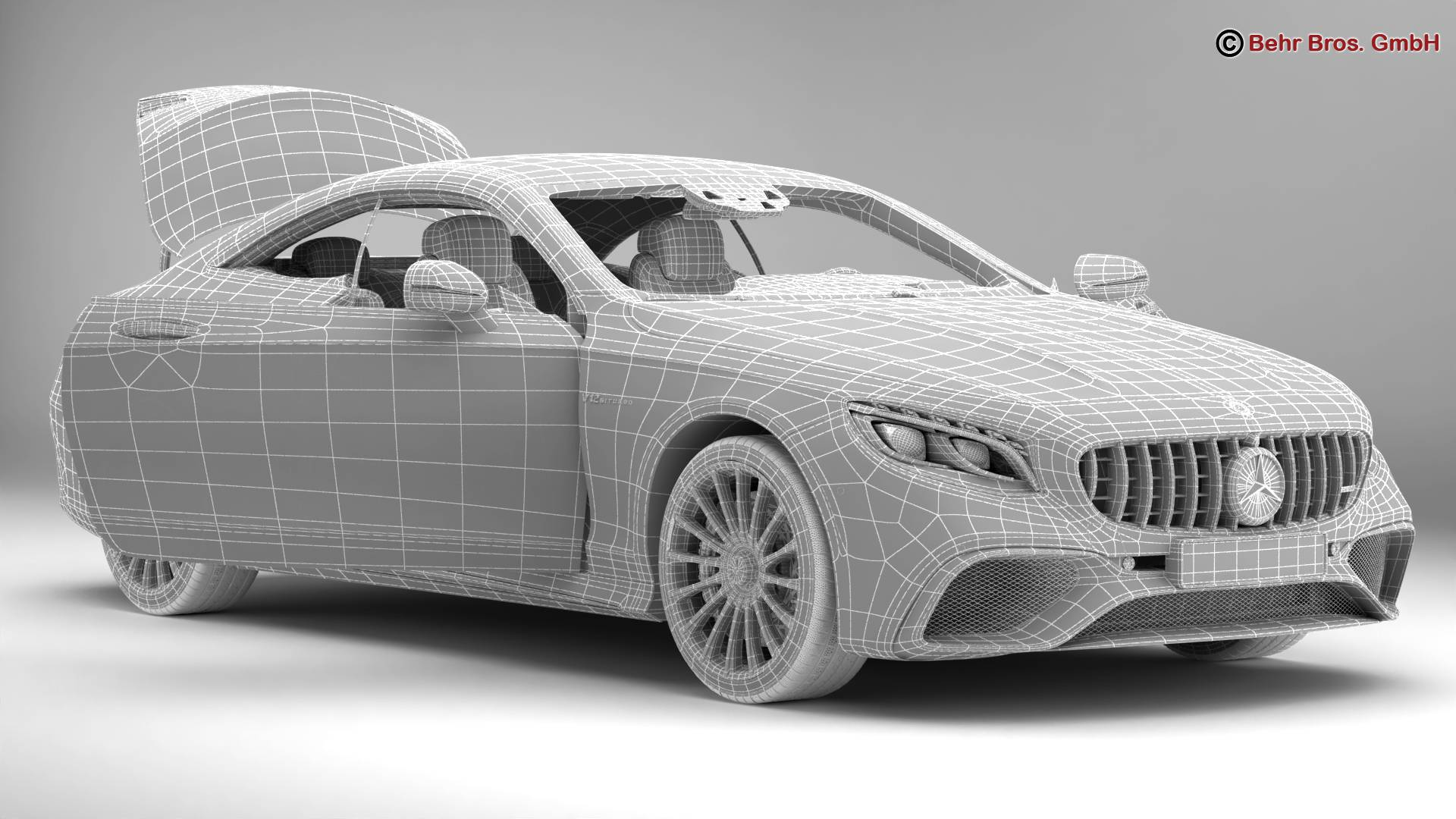 mercedes s class coupe amg s65 2018 3d model 3ds max fbx c4d lwo ma mb obj 274559