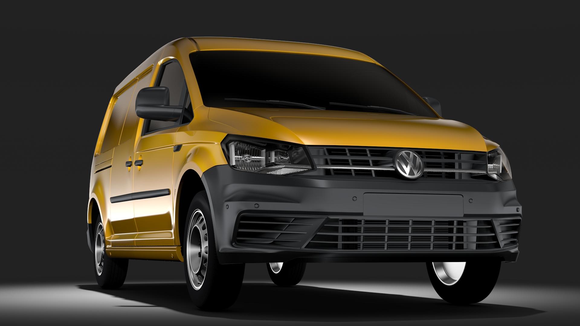 Volkswagen caddy spjaldið van l2 2017 3d líkan max fbx c4d lwo m mb hrc xsi obj 274599