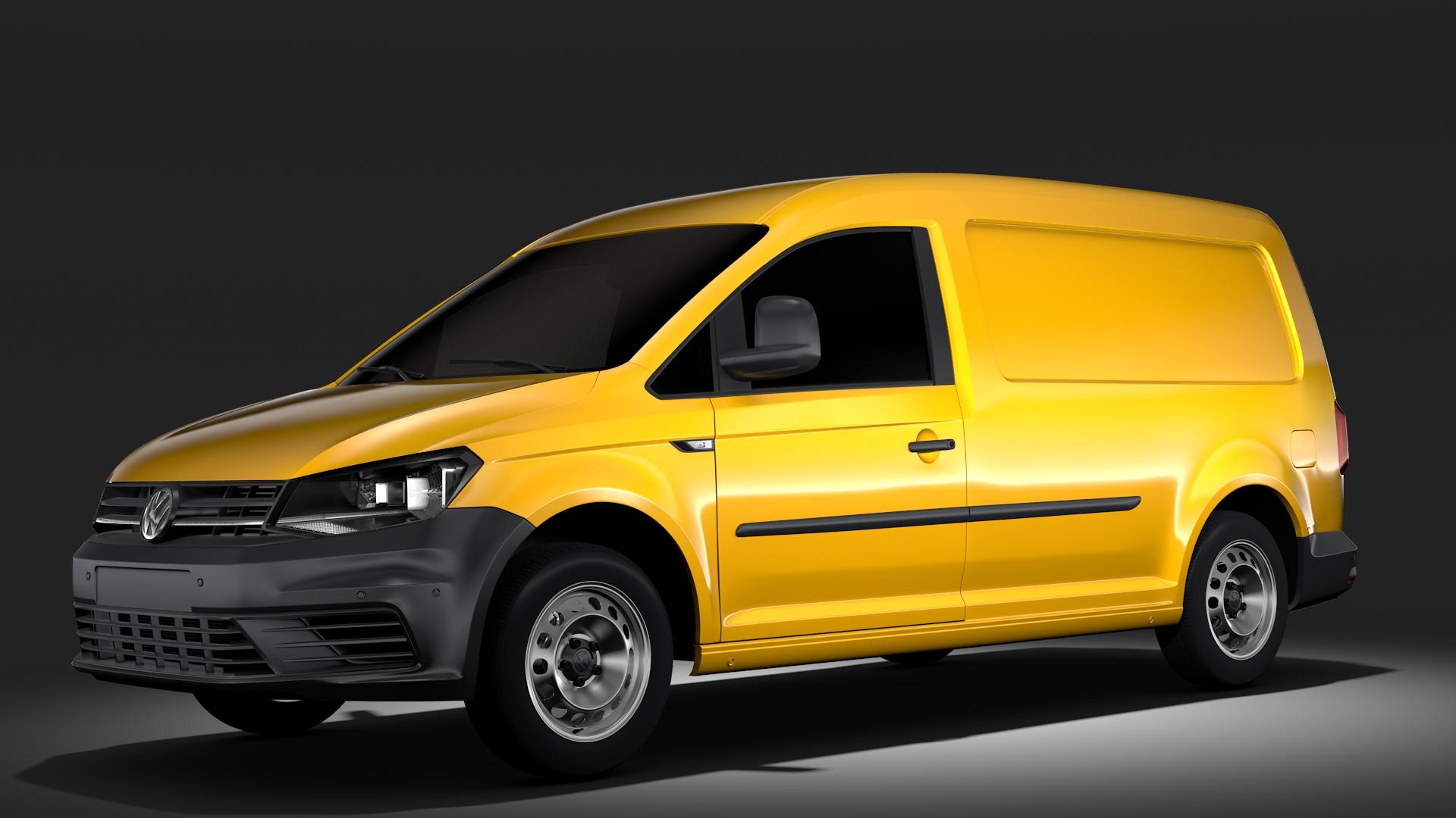 volkswagen caddy panel van l2 2017 3d model flatpyramid. Black Bedroom Furniture Sets. Home Design Ideas