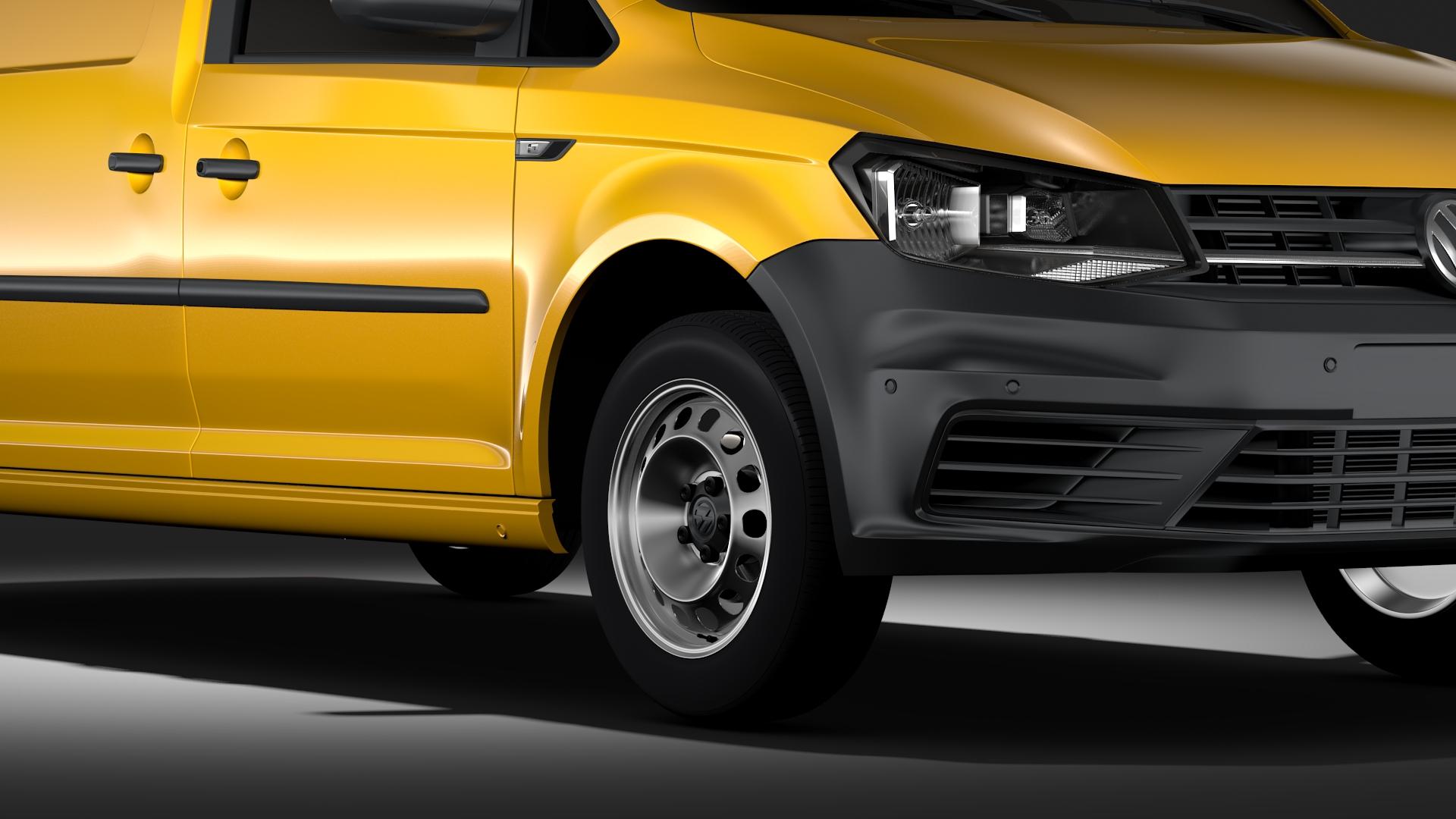 volkswagen caddy panel van l2 2017 3d model max fbx c4d lwo ma mb hrc xsi obj 274602