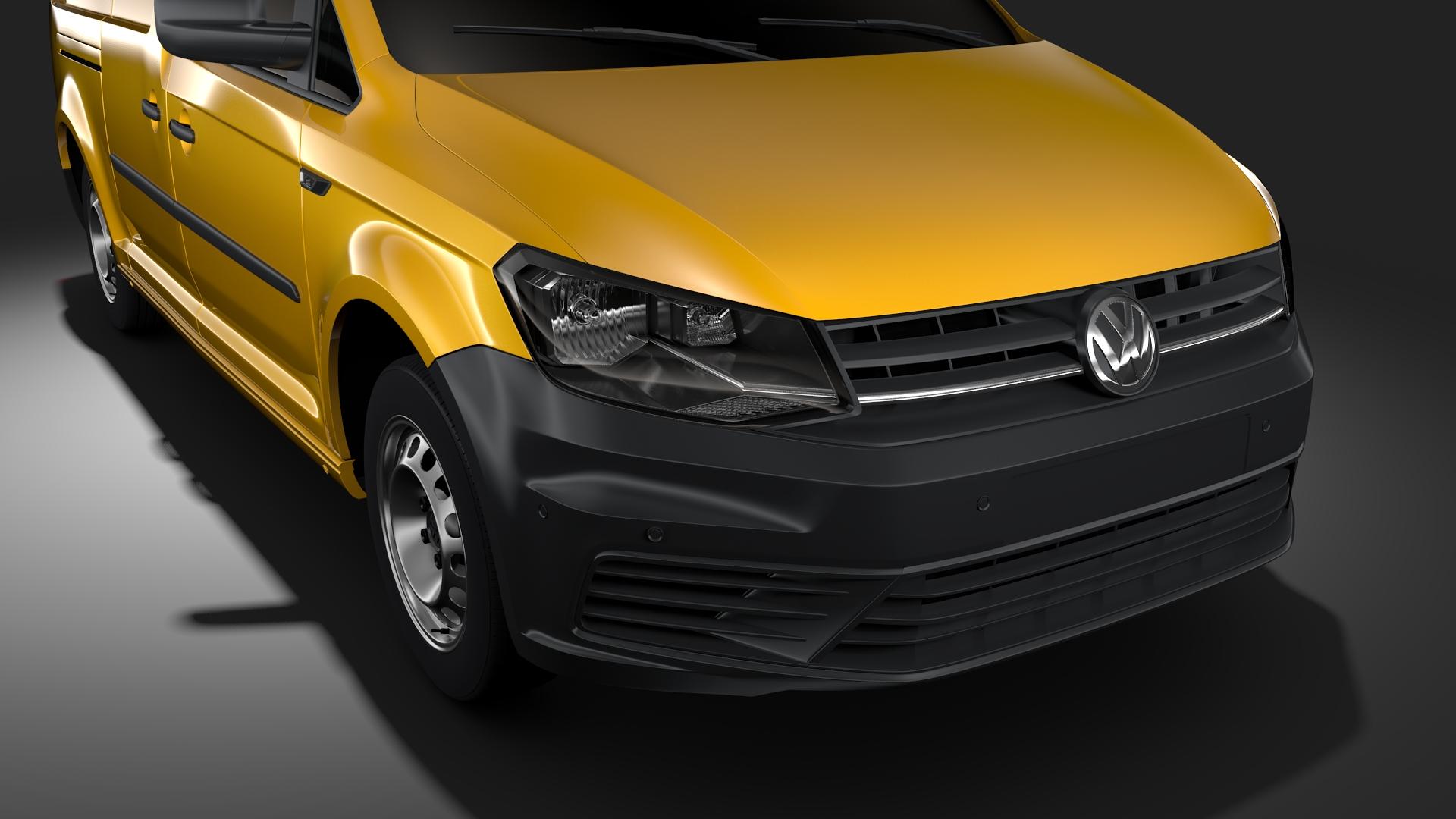 volkswagen caddy panel van l2 2017 3d model max fbx c4d lwo ma mb hrc xsi obj 274603