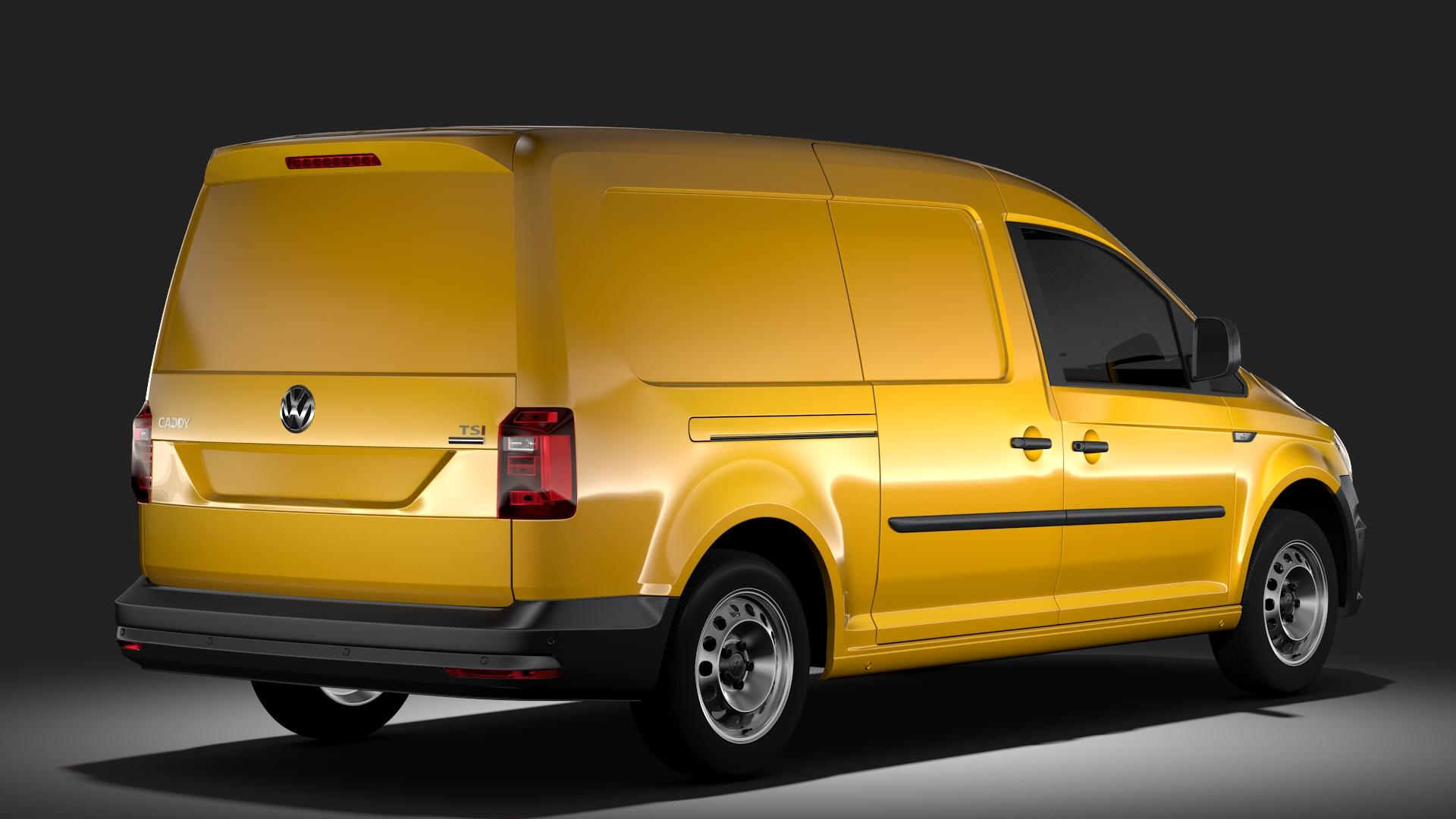 volkswagen caddy panel van l2 2017 3d model max fbx c4d lwo ma mb hrc xsi obj 274605