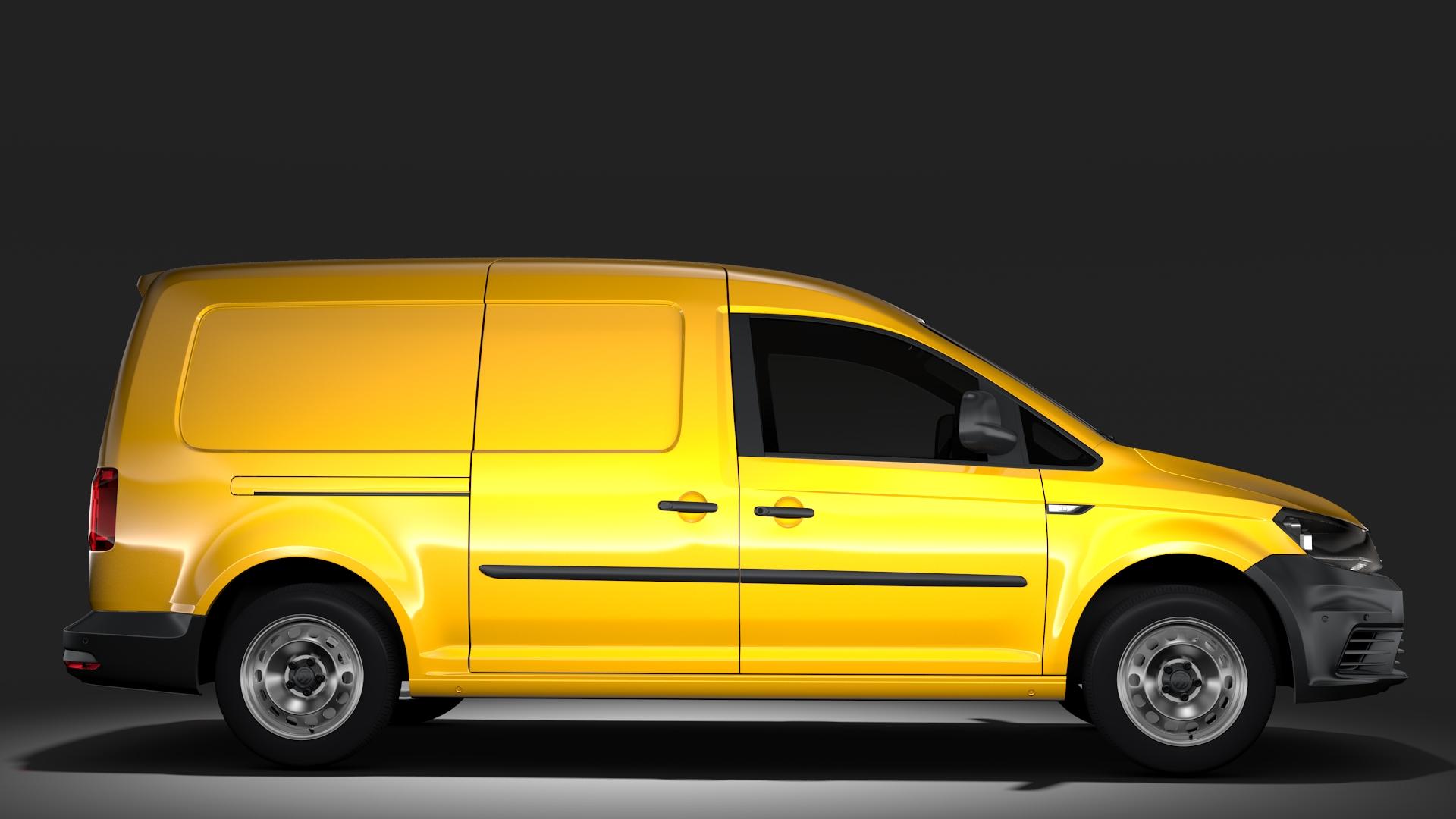 volkswagen caddy panel van l2 2017 3d model. Black Bedroom Furniture Sets. Home Design Ideas