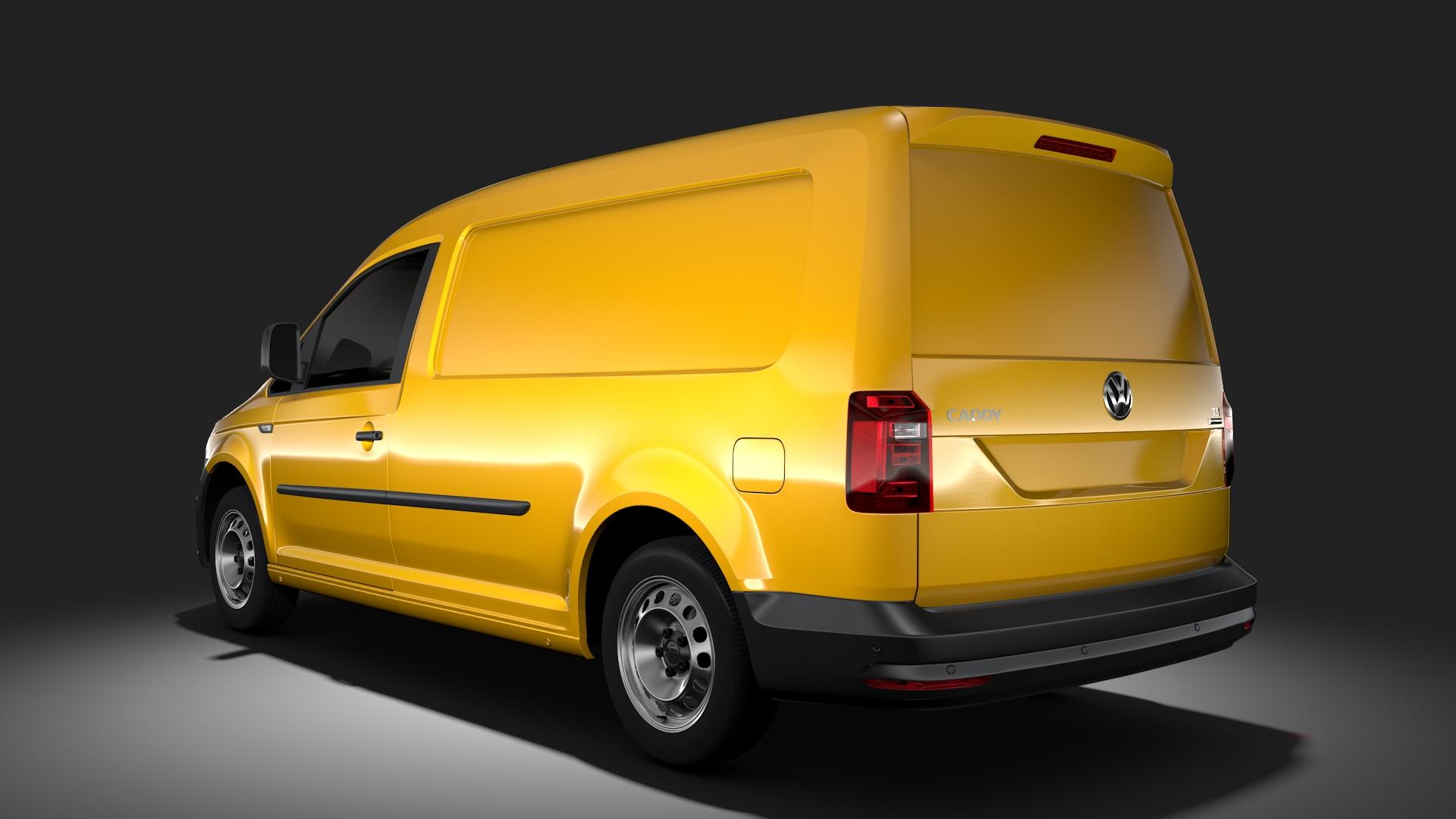 volkswagen caddy panel van l2 2017 3d model max fbx c4d lwo ma mb hrc xsi obj 274608