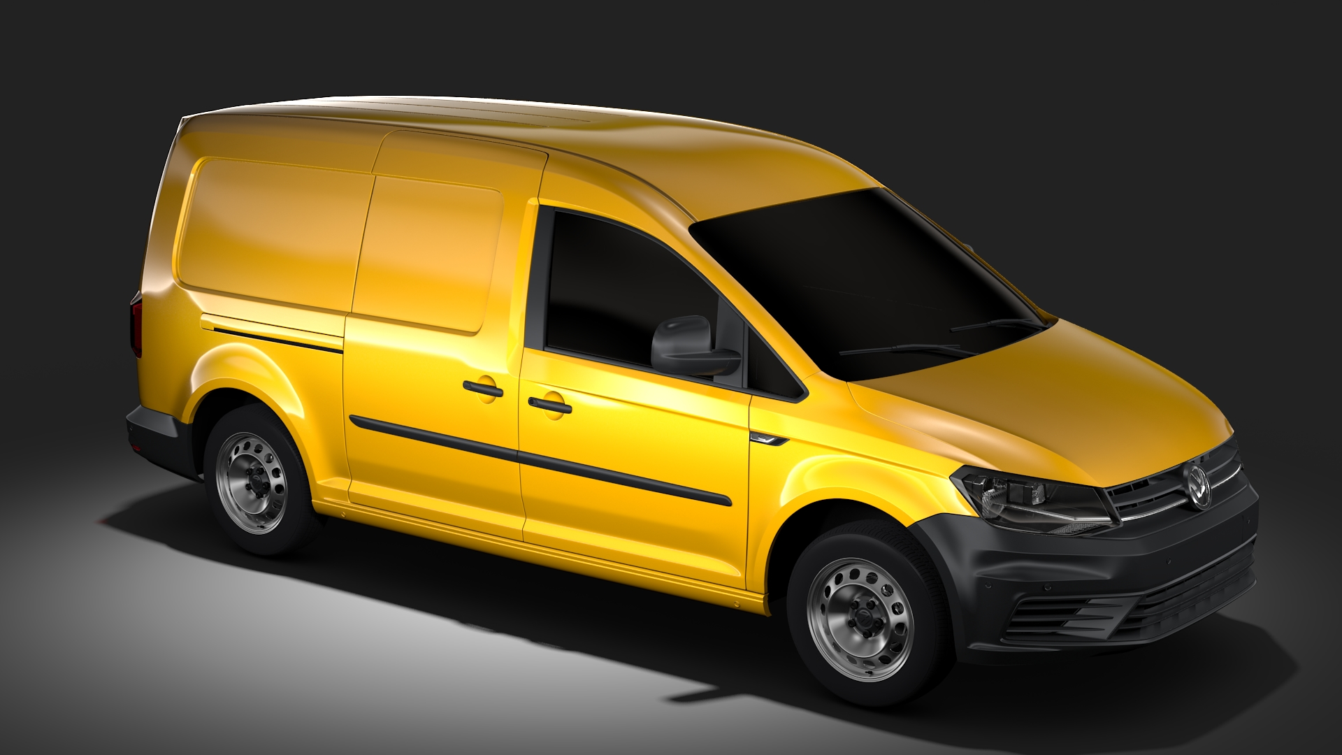 volkswagen caddy panel van l2 2017 3d model. Black Bedroom Furniture Sets. Home Design Ideas