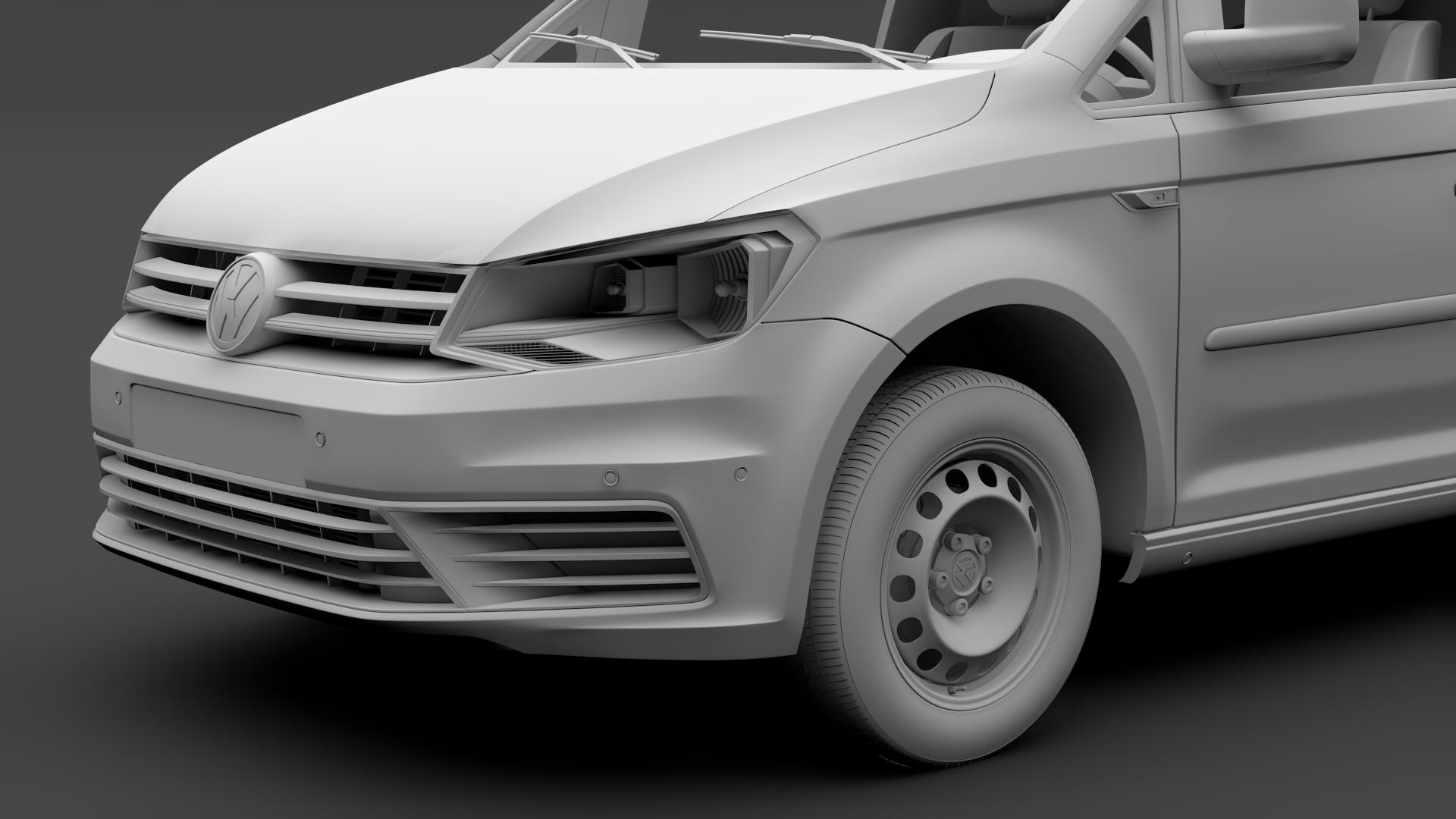 volkswagen caddy panel van l2 2017 3d model max fbx c4d lwo ma mb hrc xsi obj 274610