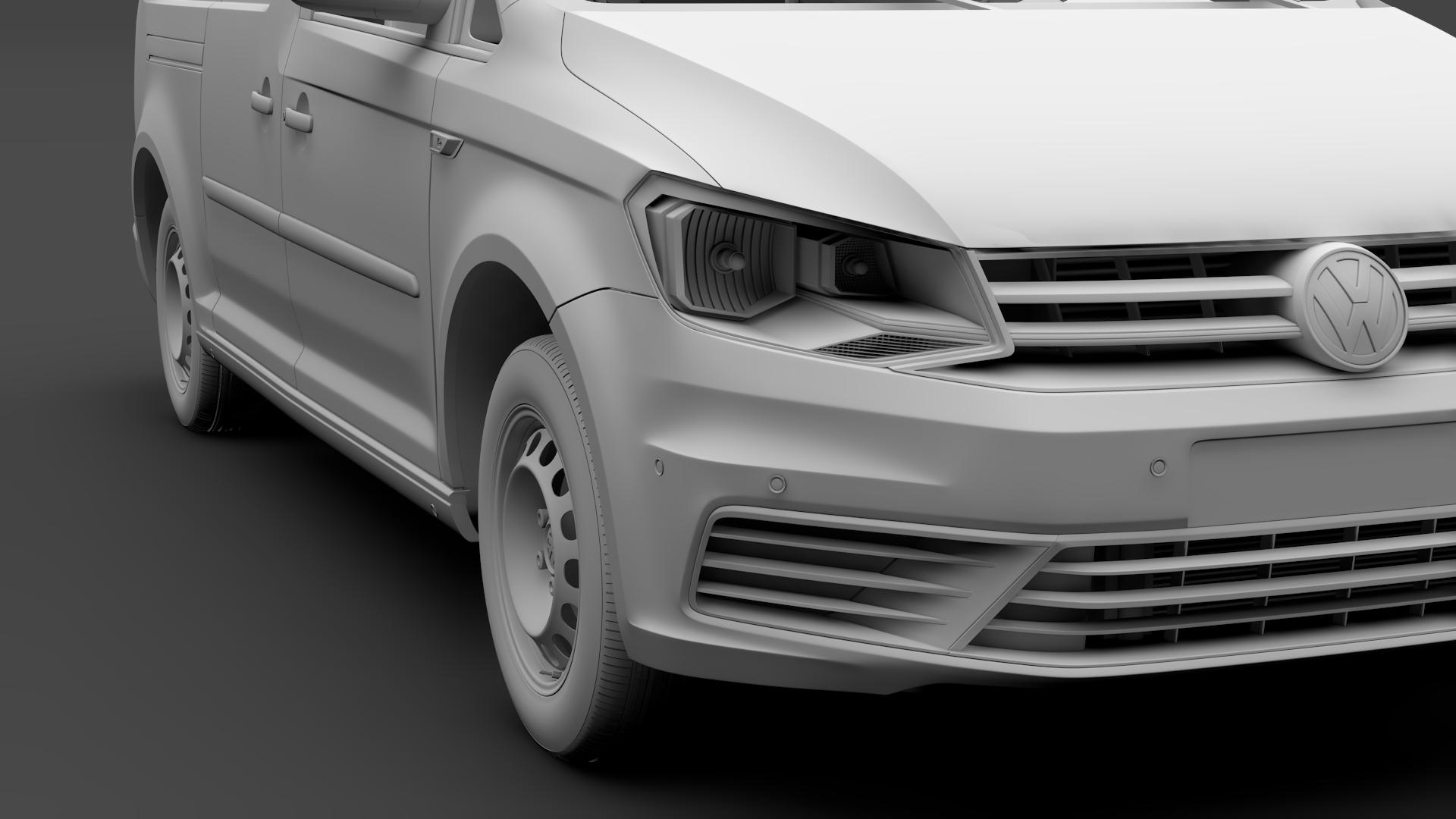 volkswagen caddy panel van l2 2017 3d model max fbx c4d lwo ma mb hrc xsi obj 274611