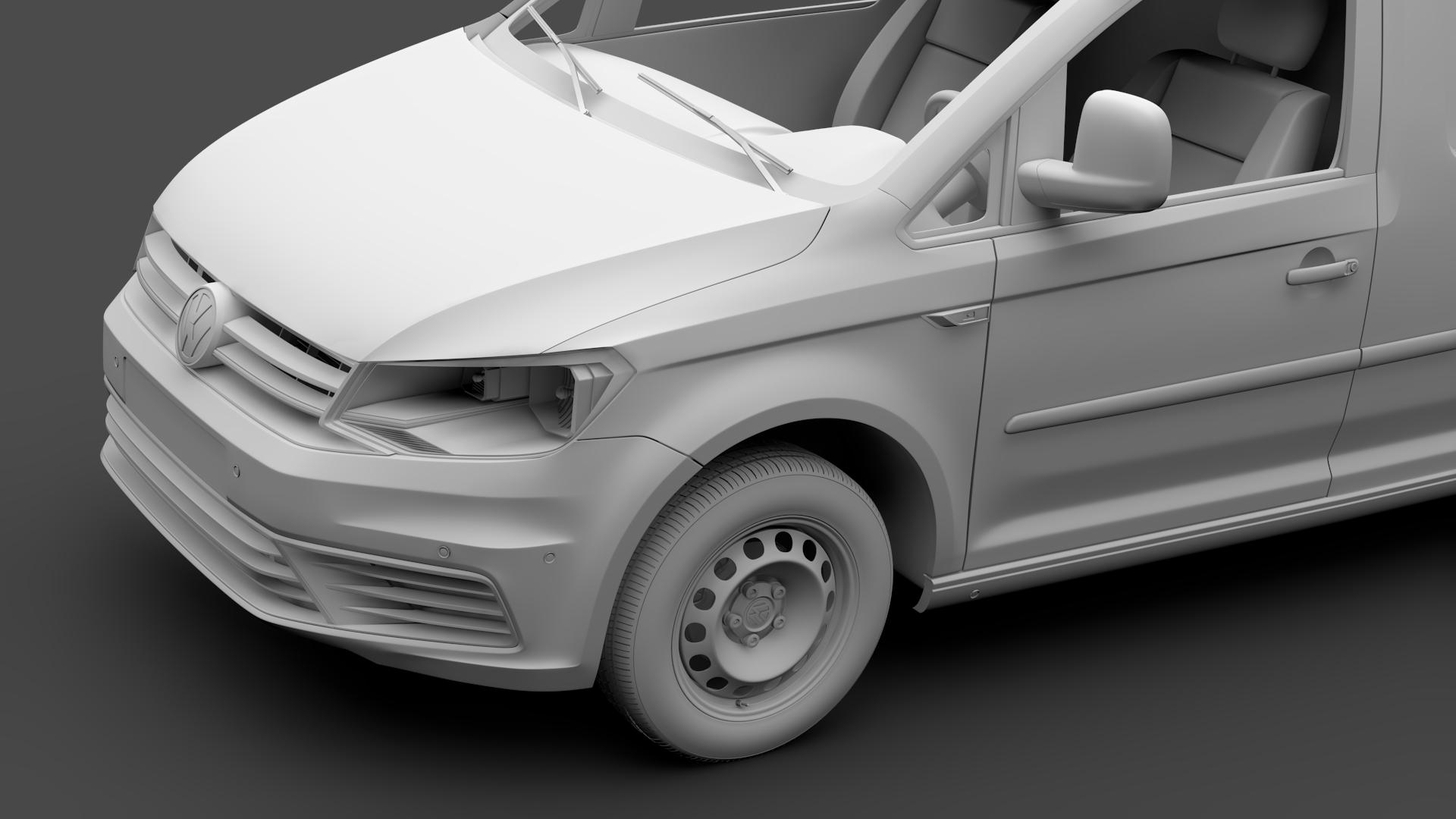 volkswagen caddy panel van l2 2017 3d model max fbx c4d lwo ma mb hrc xsi obj 274612