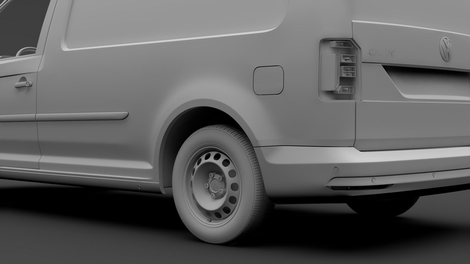 volkswagen caddy panel van l2 2017 3d model max fbx c4d lwo ma mb hrc xsi obj 274613