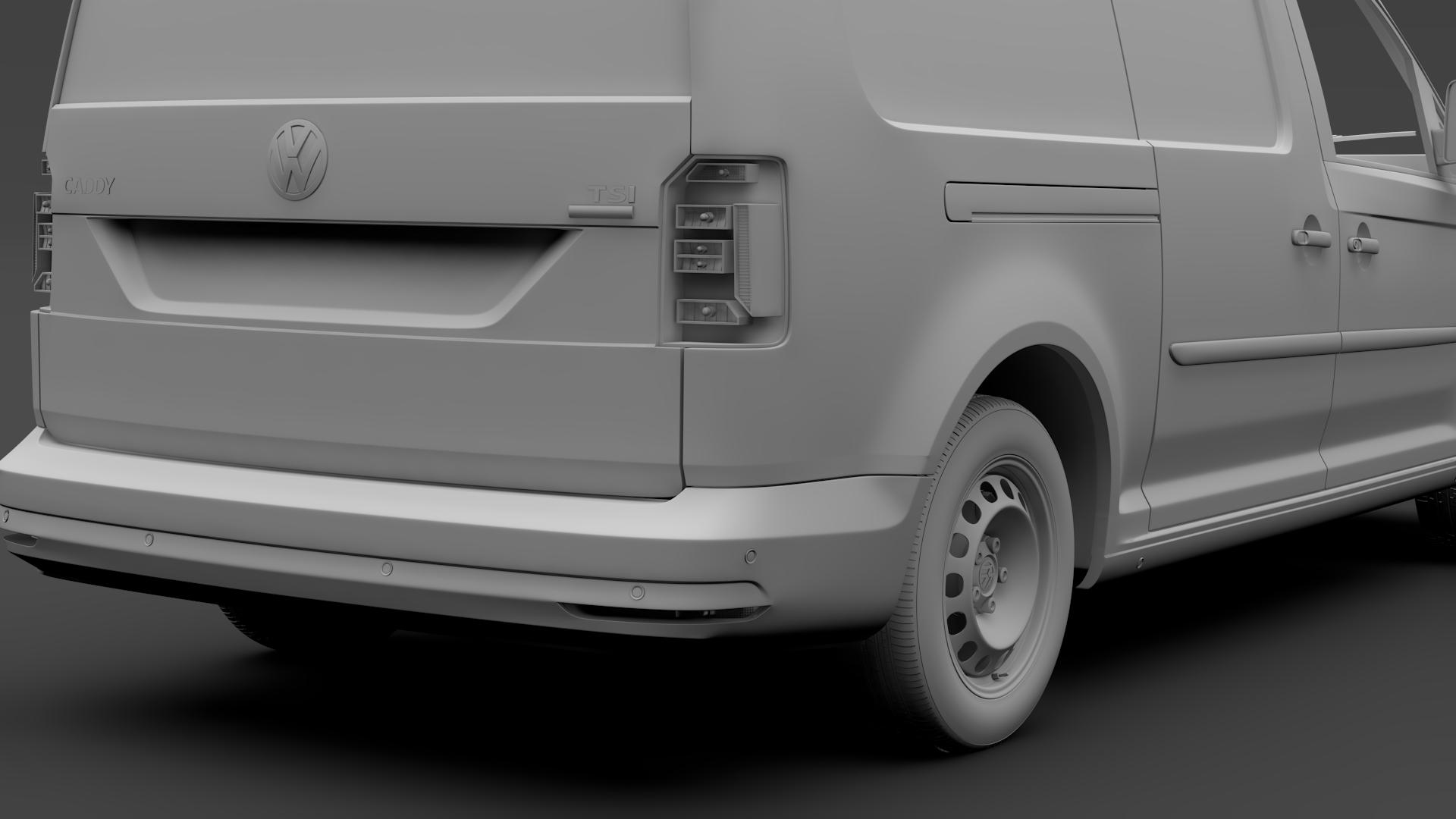 volkswagen caddy panel van l2 2017 3d model max fbx c4d lwo ma mb hrc xsi obj 274614