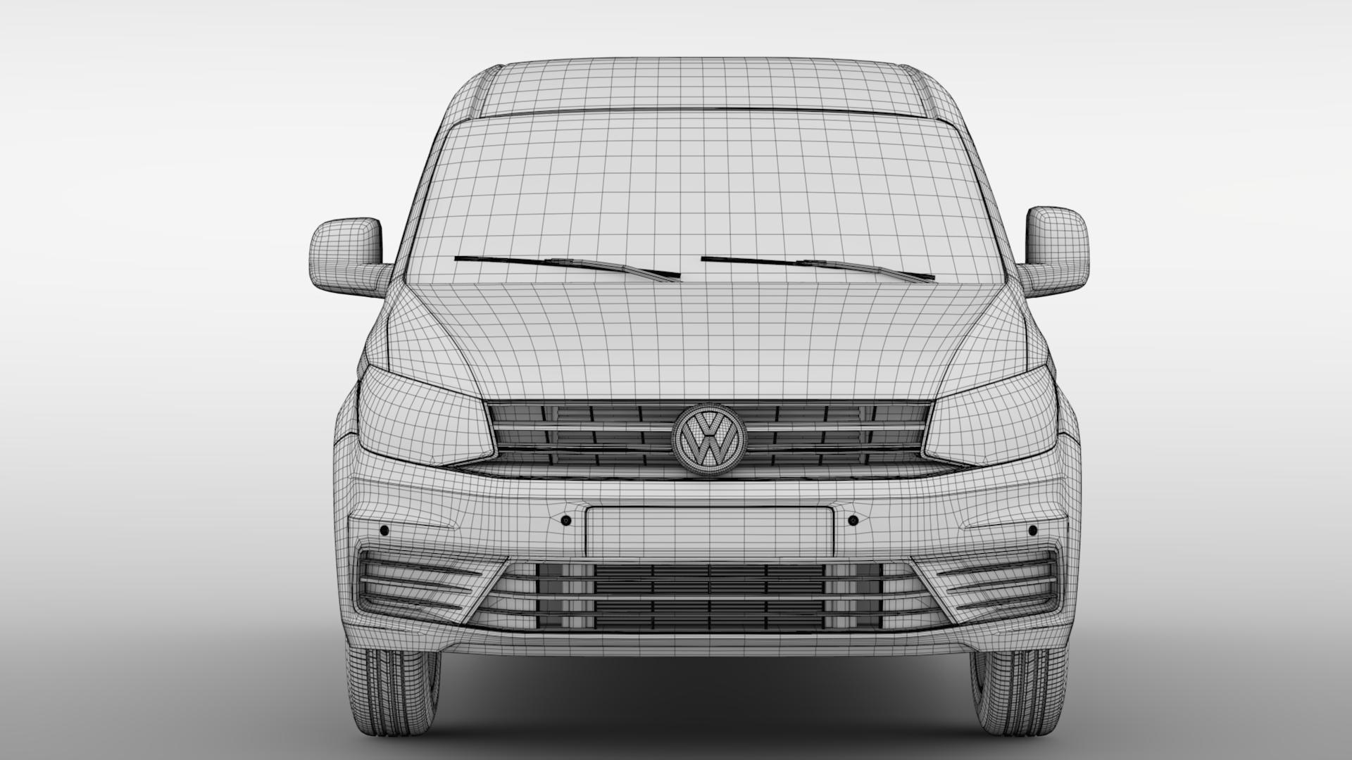volkswagen caddy panel van l2 2017 3d model max fbx c4d lwo ma mb hrc xsi obj 274615