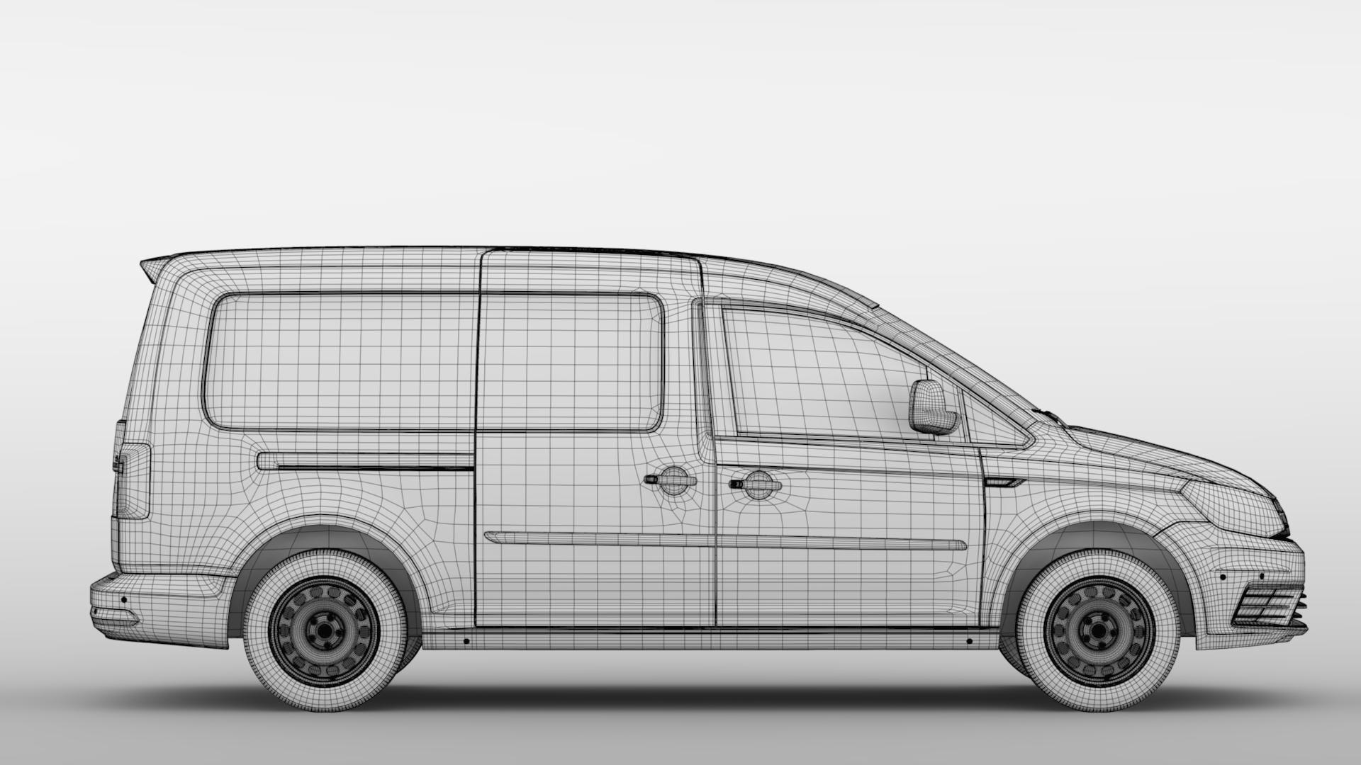 volkswagen caddy panel van l2 2017 3d model max fbx c4d lwo ma mb hrc xsi obj 274616