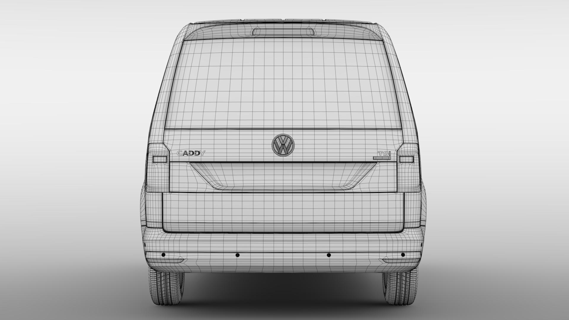 volkswagen caddy panel van l2 2017 3d model max fbx c4d lwo ma mb hrc xsi obj 274617