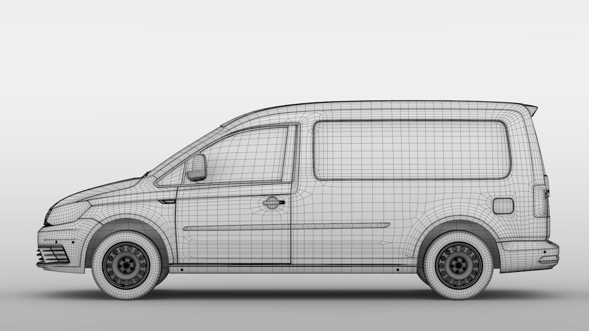 volkswagen caddy panel van l2 2017 3d model max fbx c4d lwo ma mb hrc xsi obj 274618