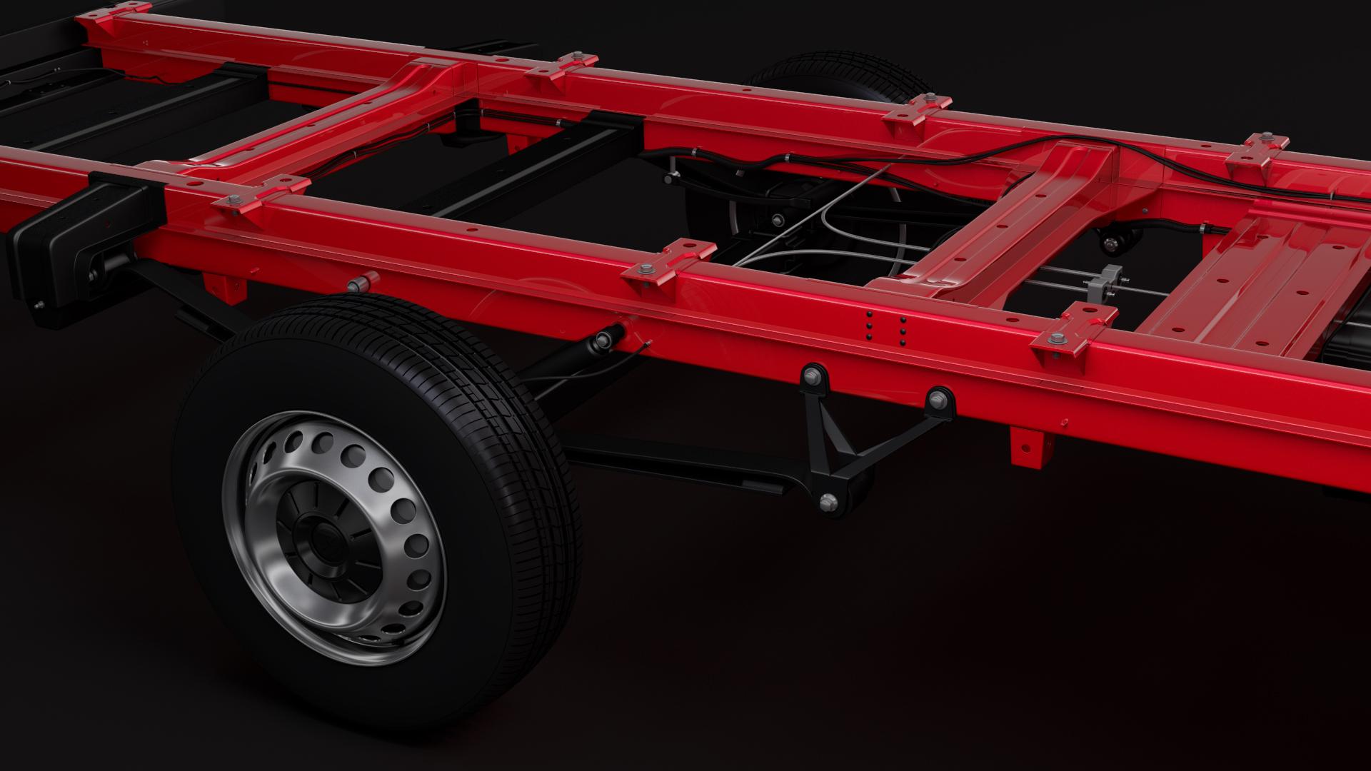 vw crafter chassi doublecab l3 2017 3d model max fbx c4d lwo ma mb hrc xsi obj 274710