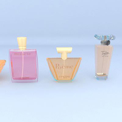 lancome perfume 3d model max 274888