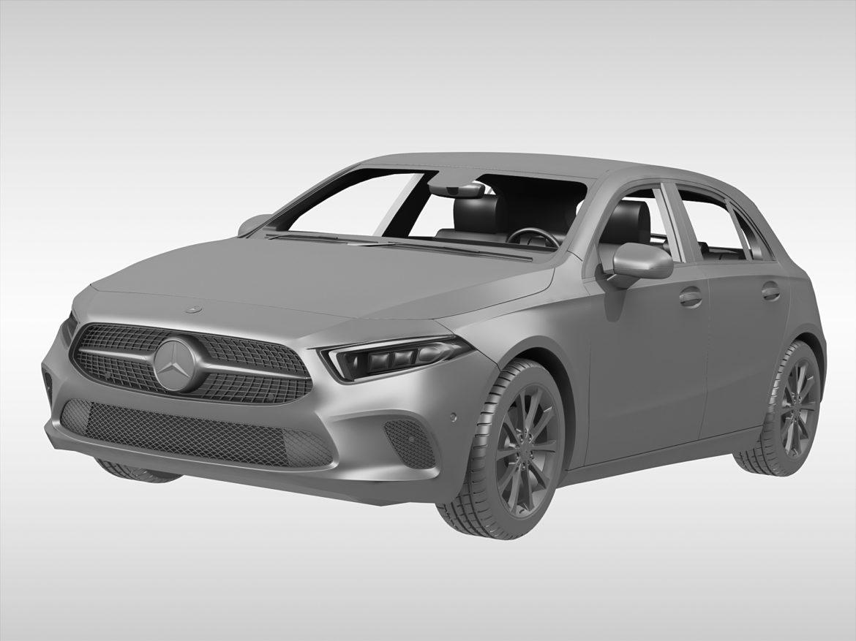 mercedes benz a class (2019) 3d model 3ds max fbx blend c4d dae ma mb obj 274925