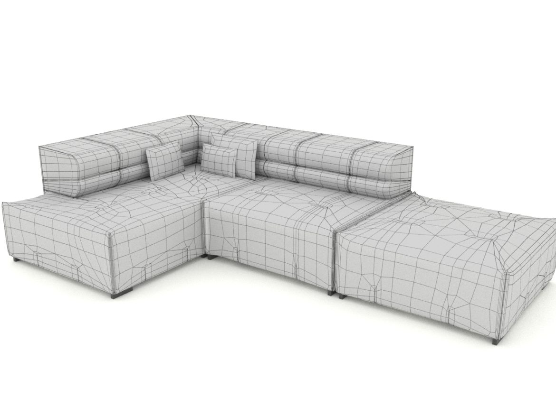 sofa tufty too 3d model 3ds 274961