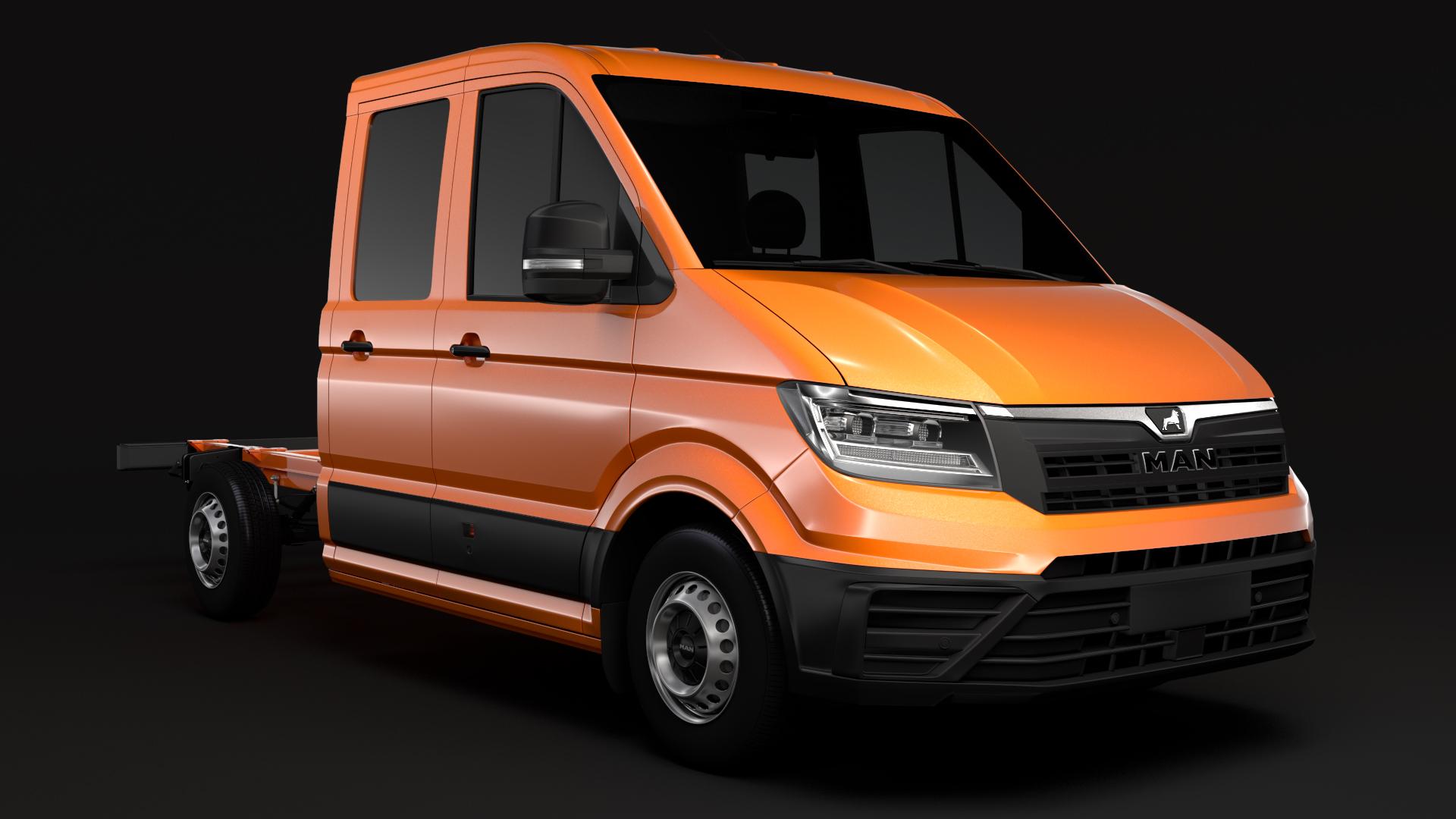 man tge chassis double-cab 2017 3d model max fbx c4d lwo ma mb hrc xsi obj 274966