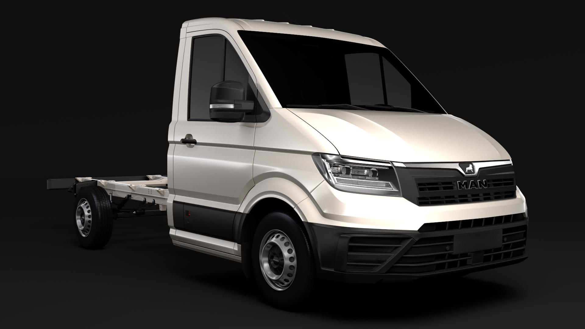 man tge chassis single-cab 2017 3d model max fbx c4d lwo ma mb hrc xsi obj 274994