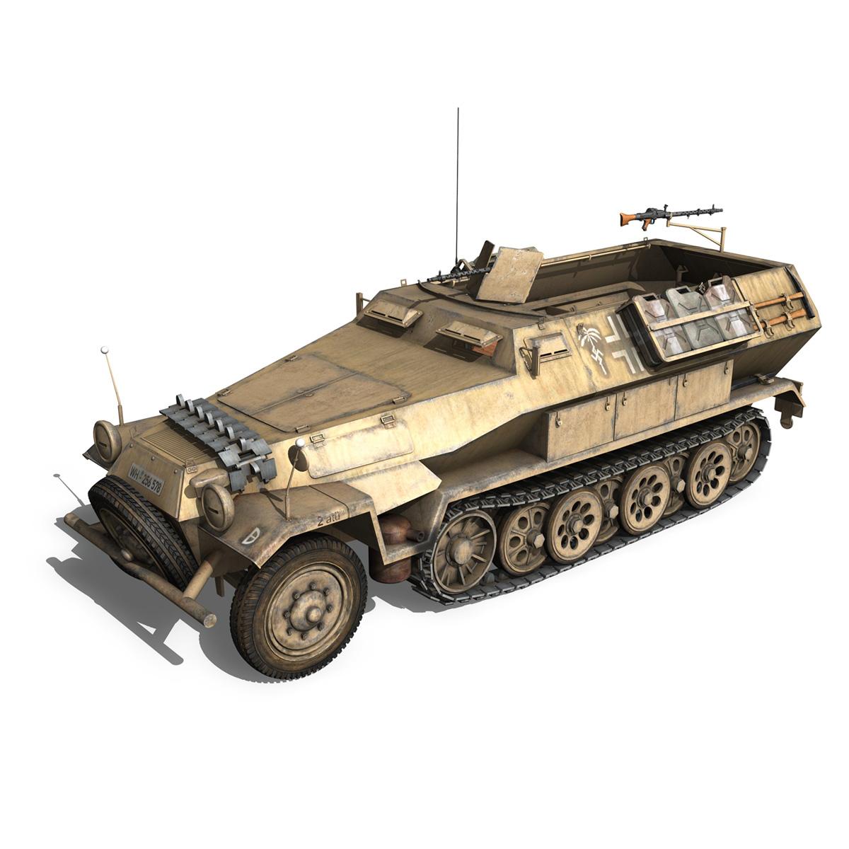 sd.kfz 251/1 ausf.b – dak – 21pd 3d model 3ds fbx c4d lwo obj 275057