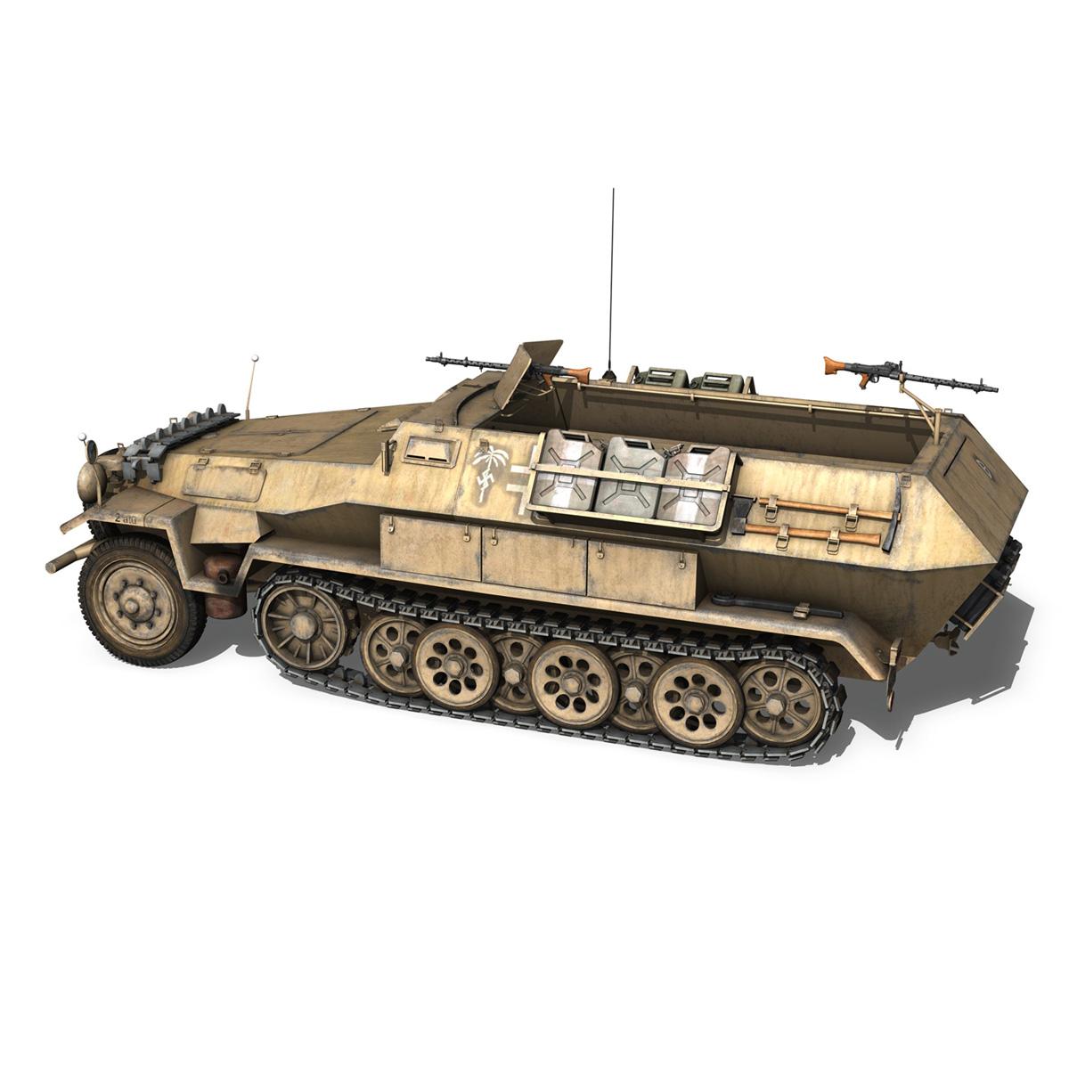 sd.kfz 251/1 ausf.b – dak – 21pd 3d model 3ds fbx c4d lwo obj 275058